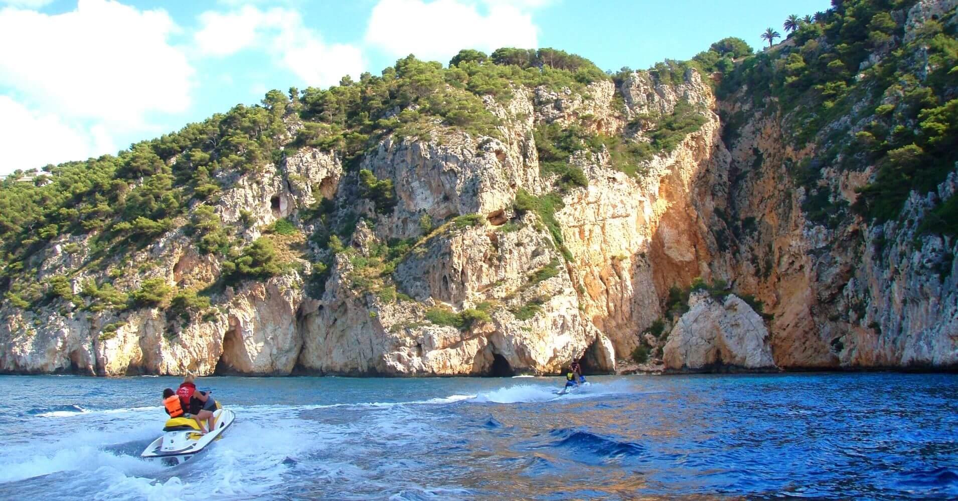 Cuevas del Cabo de la Nao en Jávea. Alicante, Comunidad Valenciana.