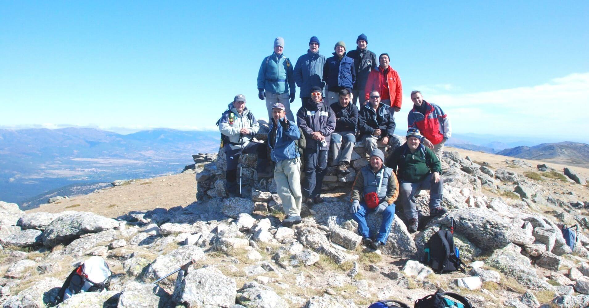 Cumbre de Cabeza de Hierro Mayor. Cuerda Larga. Comunidad de Madrid.