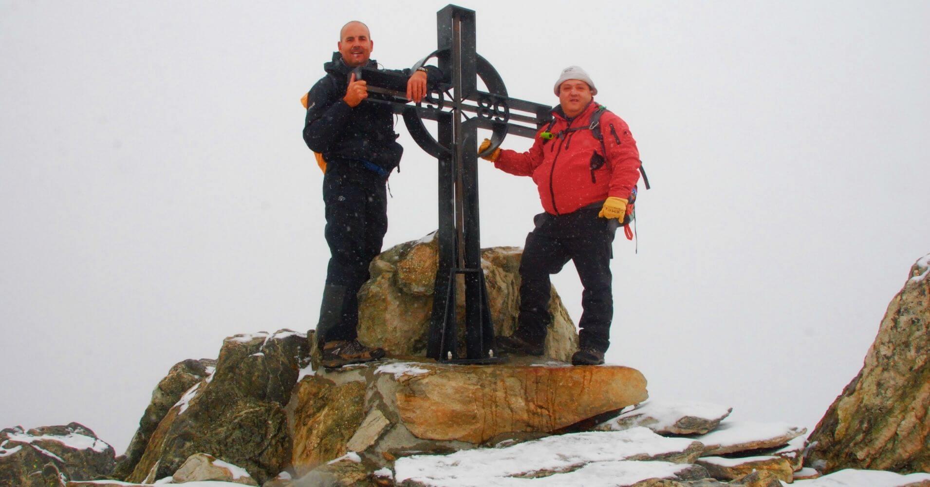 Cumbre de Eggishorn. fiesch, Suiza.