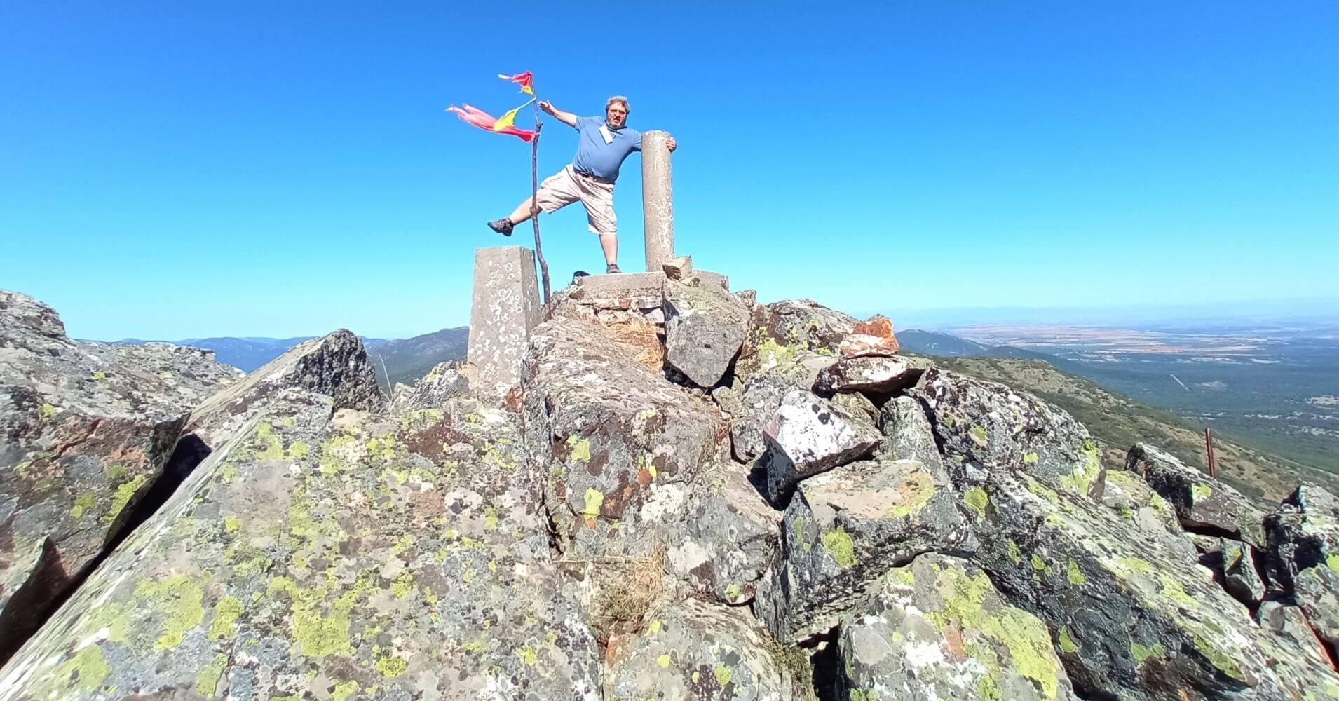 Cumbre del Cerro Vicente 1430m. Montes de Toledo. Las Navillas, Menasalbas. Toledo.