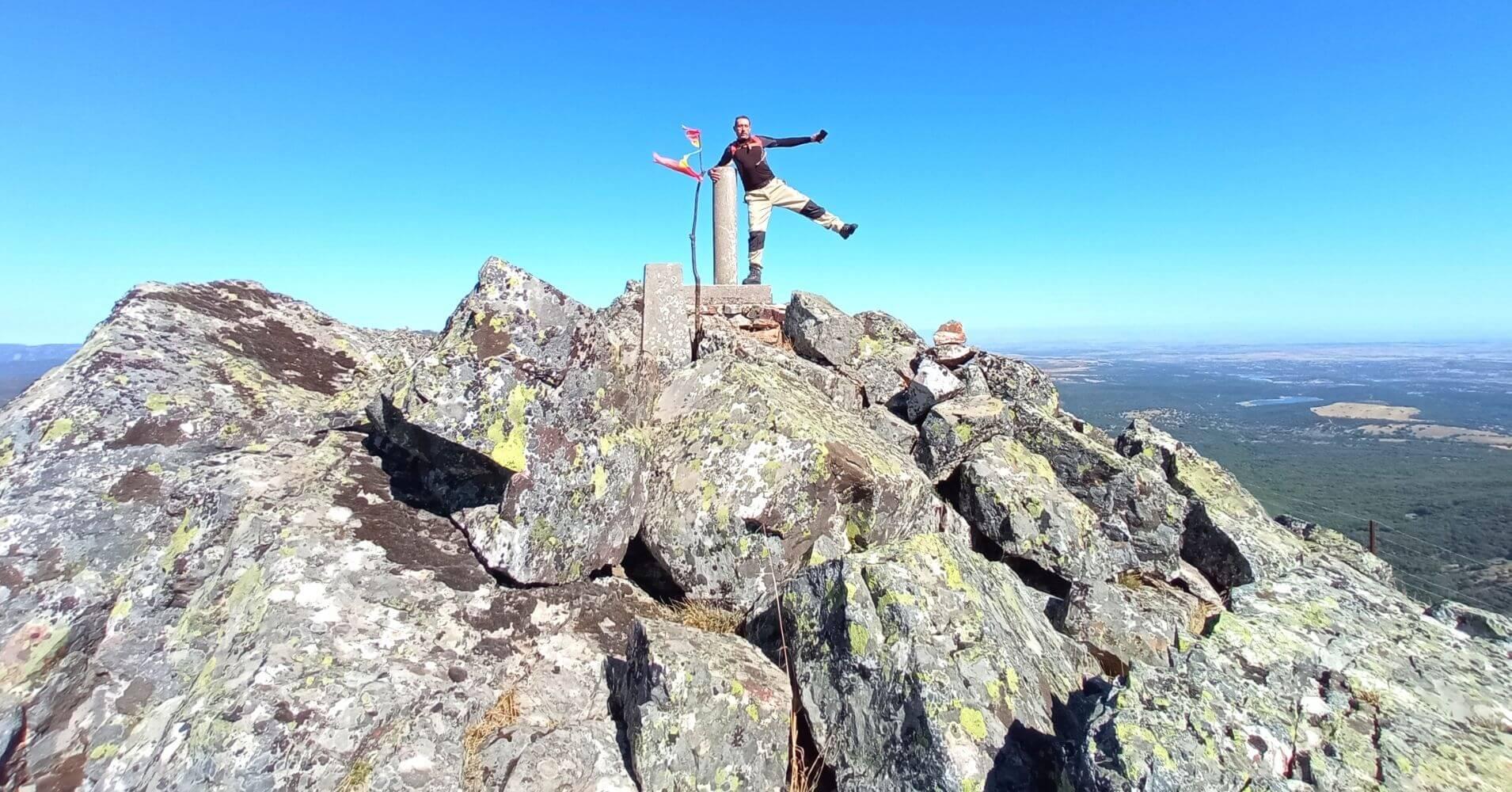 Cumbre del Cerro Vicente 1430m. Montes de Toledo. Las Navillas, Menasalbas. Castilla la Mancha.