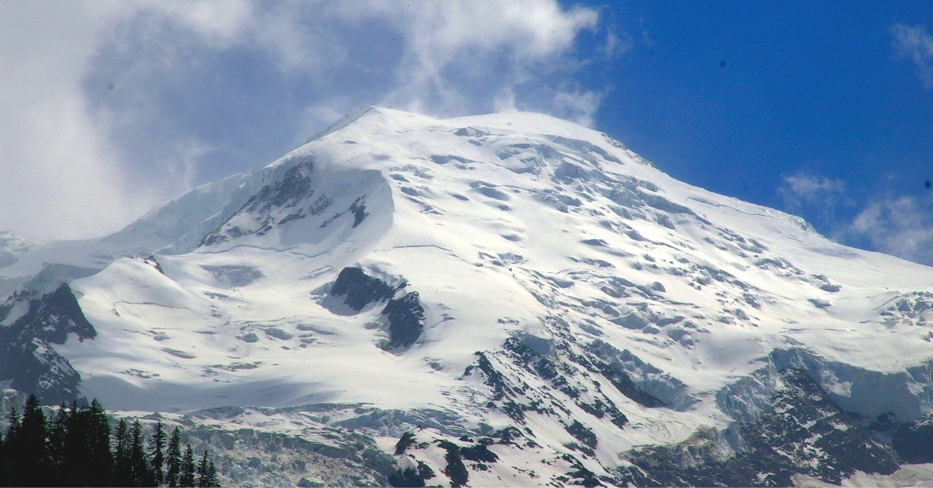 Cumbre del Pico del Mont Blanc. Francia, Italia. Cordillera de los Alpes.