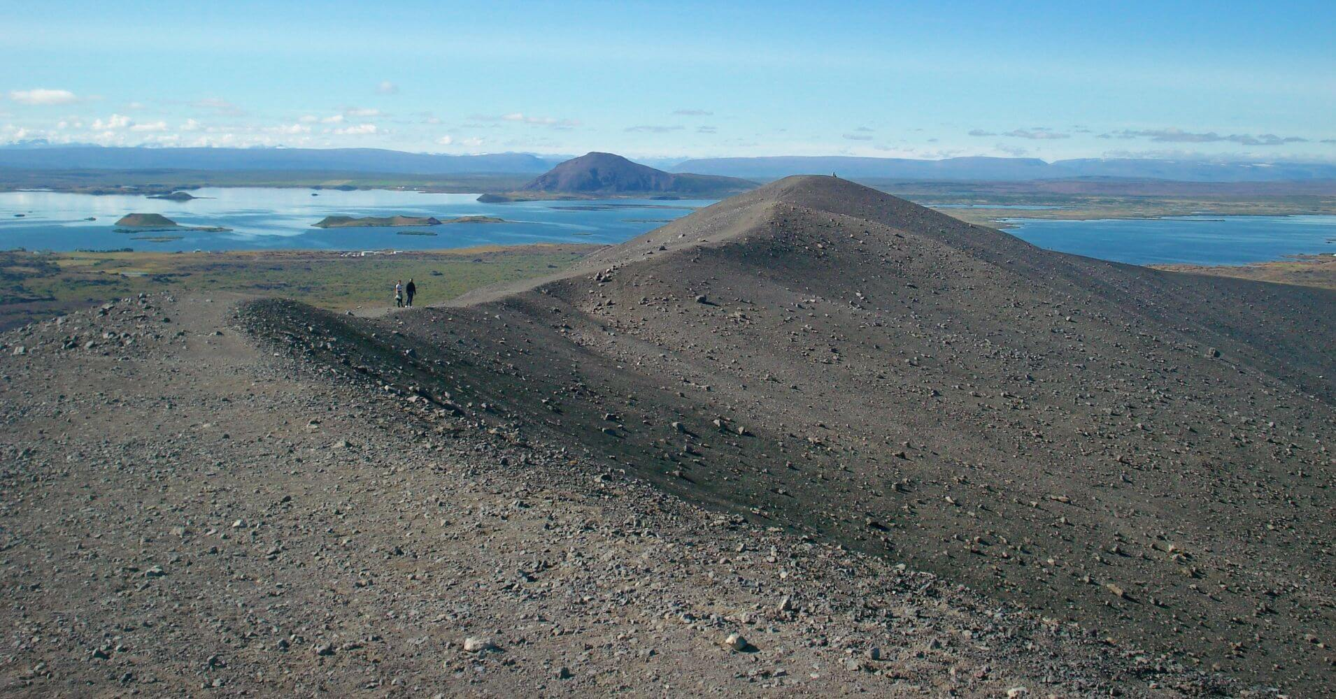 Cumbre del Volcán Hverfjall. Islandia.