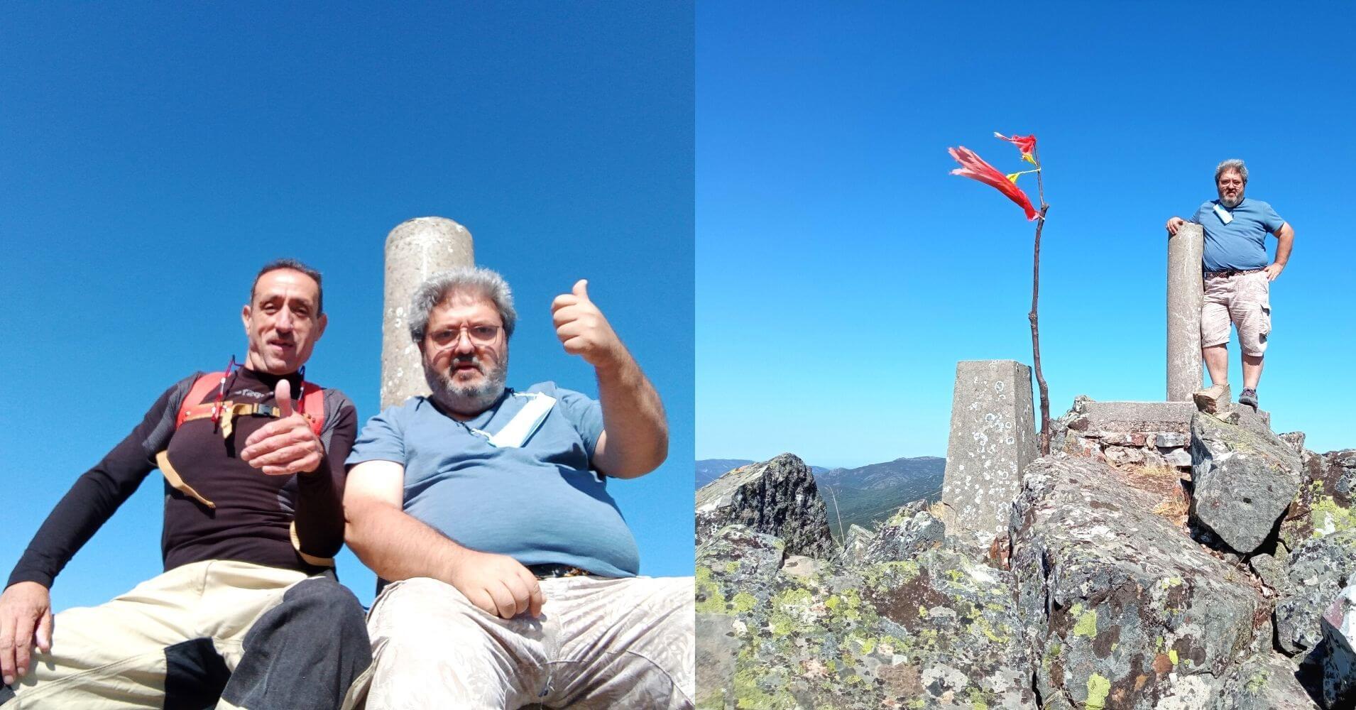 Cumbre y Vértice Geodésico del Cerro Vicente 1430m. Menasalbas, Montes de Toledo. Castilla la Mancha.