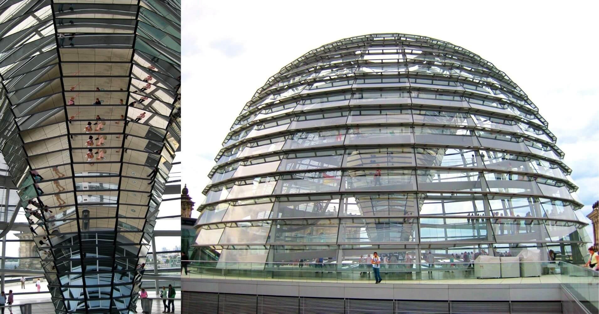 Cúpula del Parlamento. Capital de Alemania.