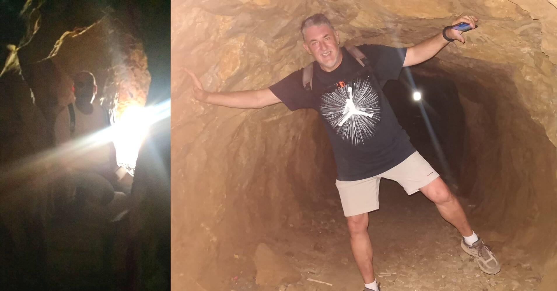 Dentro de la Cueva de los Champiñones. Paisaje Protegido del Cabezo Gordo. Torre Pacheco. Murcia.