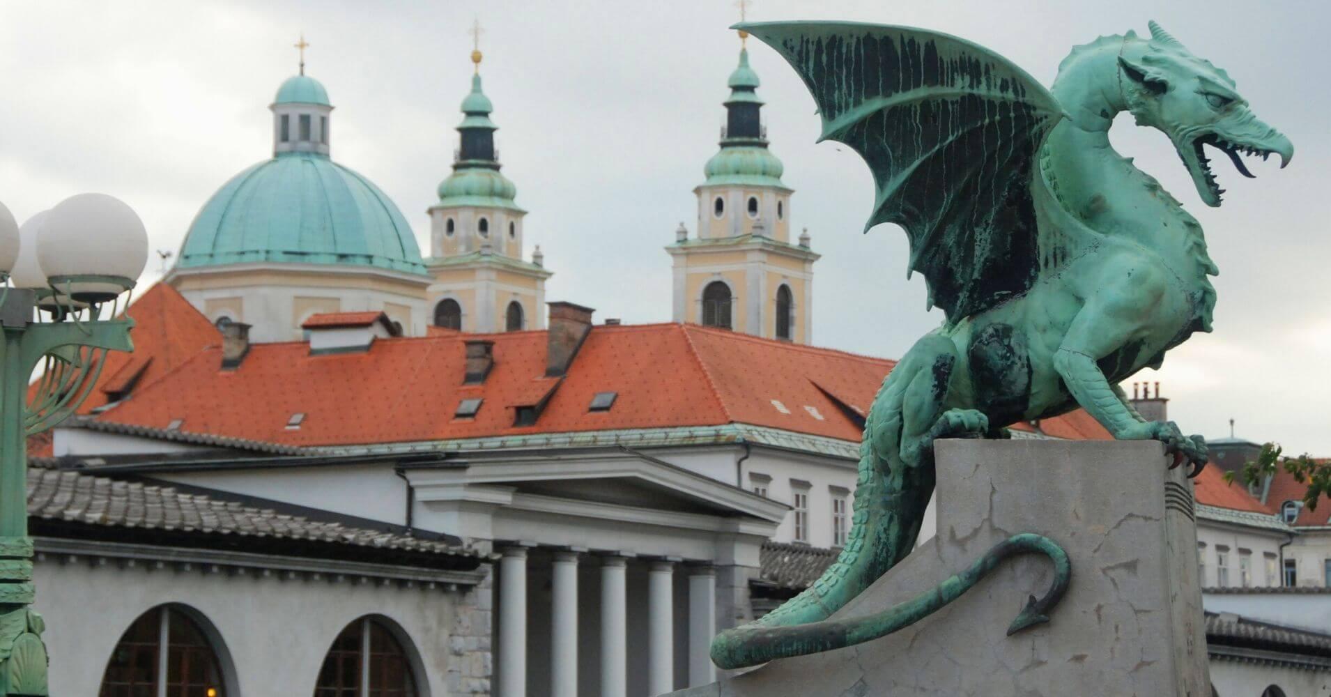 Dragón en Lubliana. Viajar a Eslovenia.