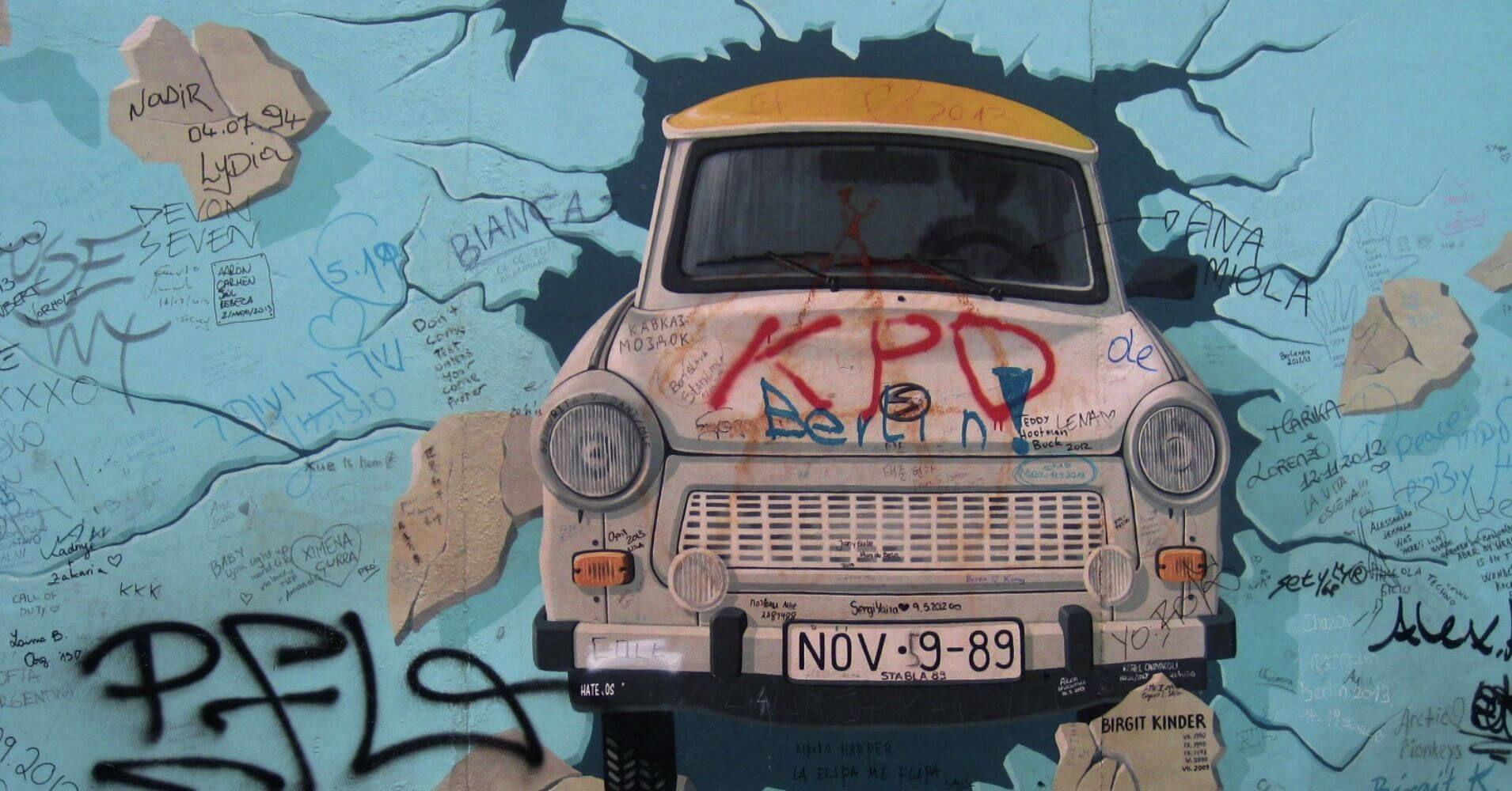 East Side Gallery. Muro de Berlín. Alemania.