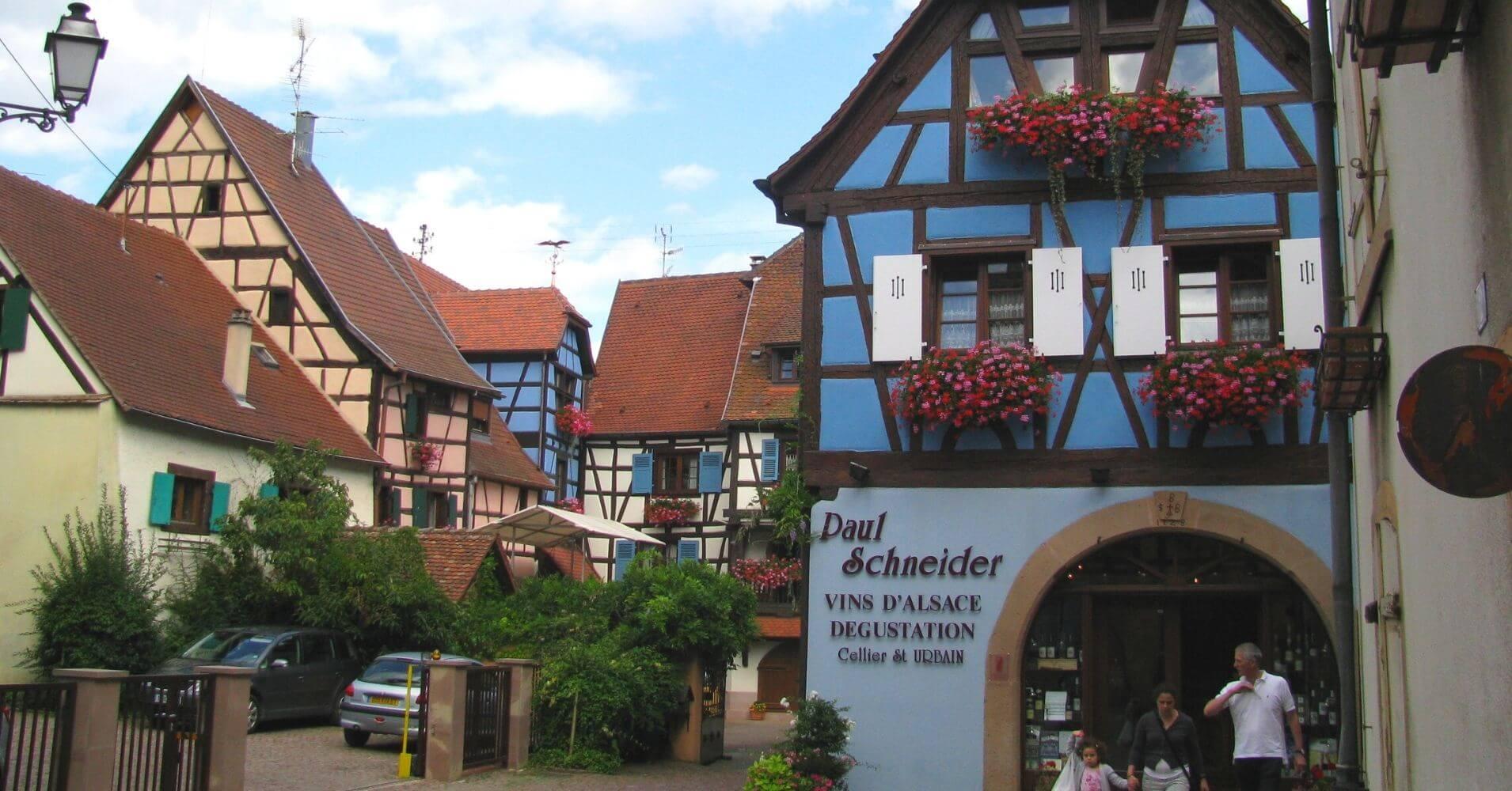 Ruta del Vino de Alsacia. Eguisheim. Alto Rin, Alsacia. Gran Este. Francia.