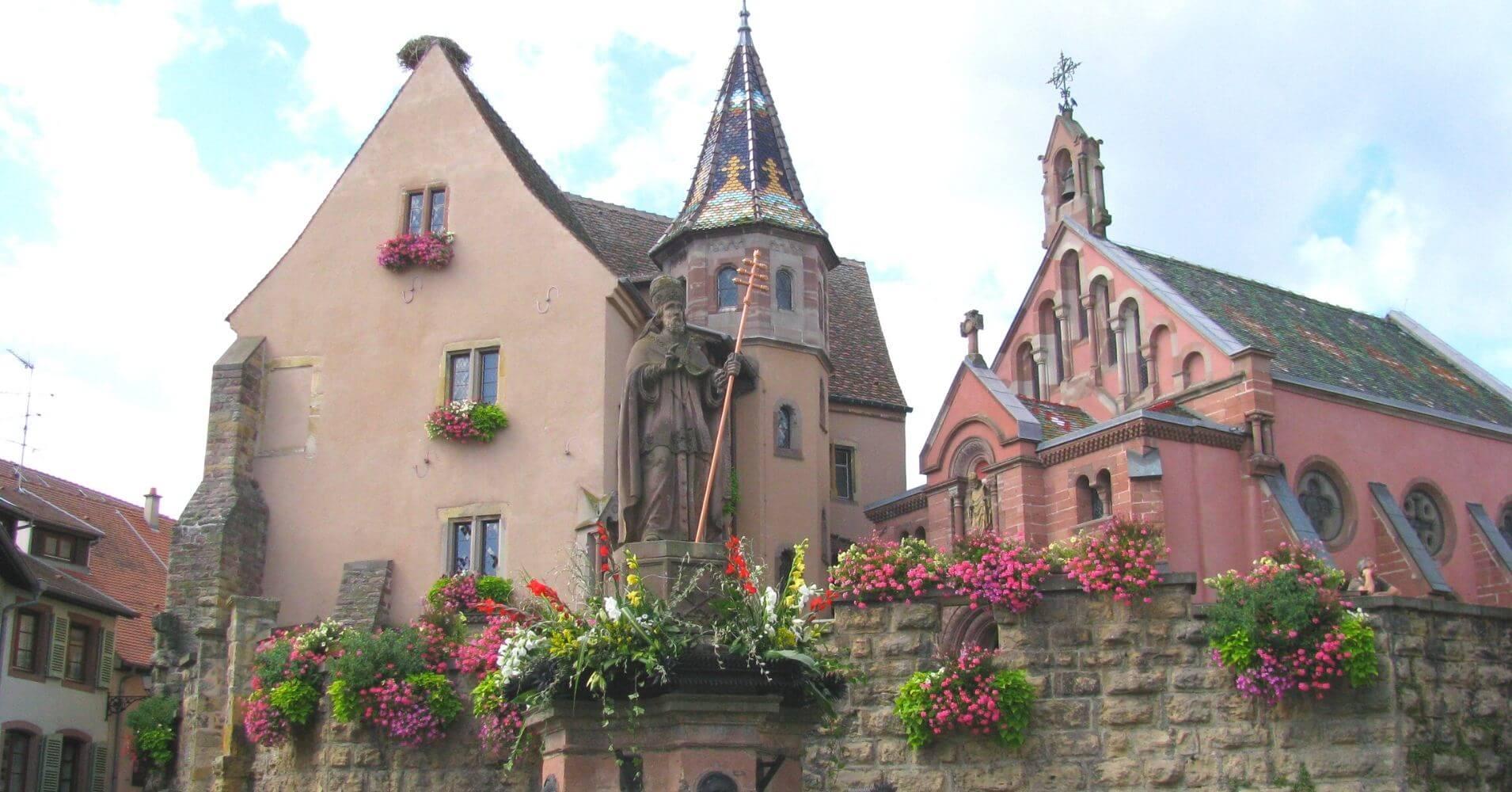 Eguisheim en Alsacia. Alto Rin. Gran Este. Francia.