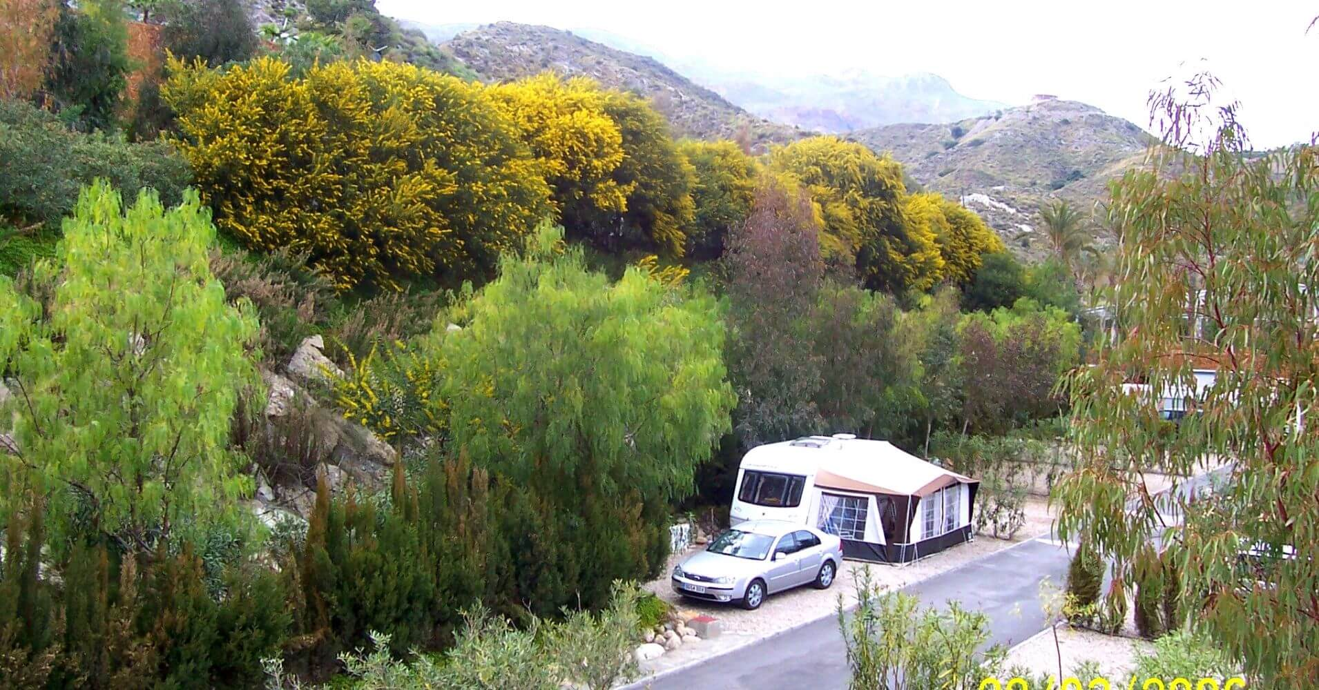 El Camping Cueva Negra. Mojácar, Almería. Andalucía.