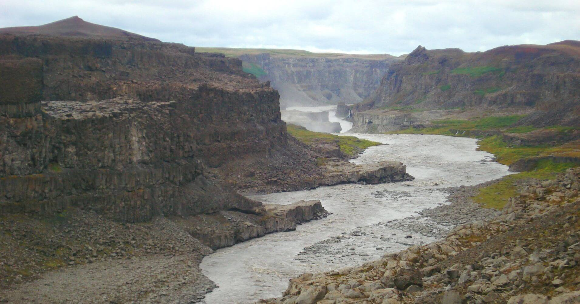El Cañón del Río Jökulsa. Islandia.