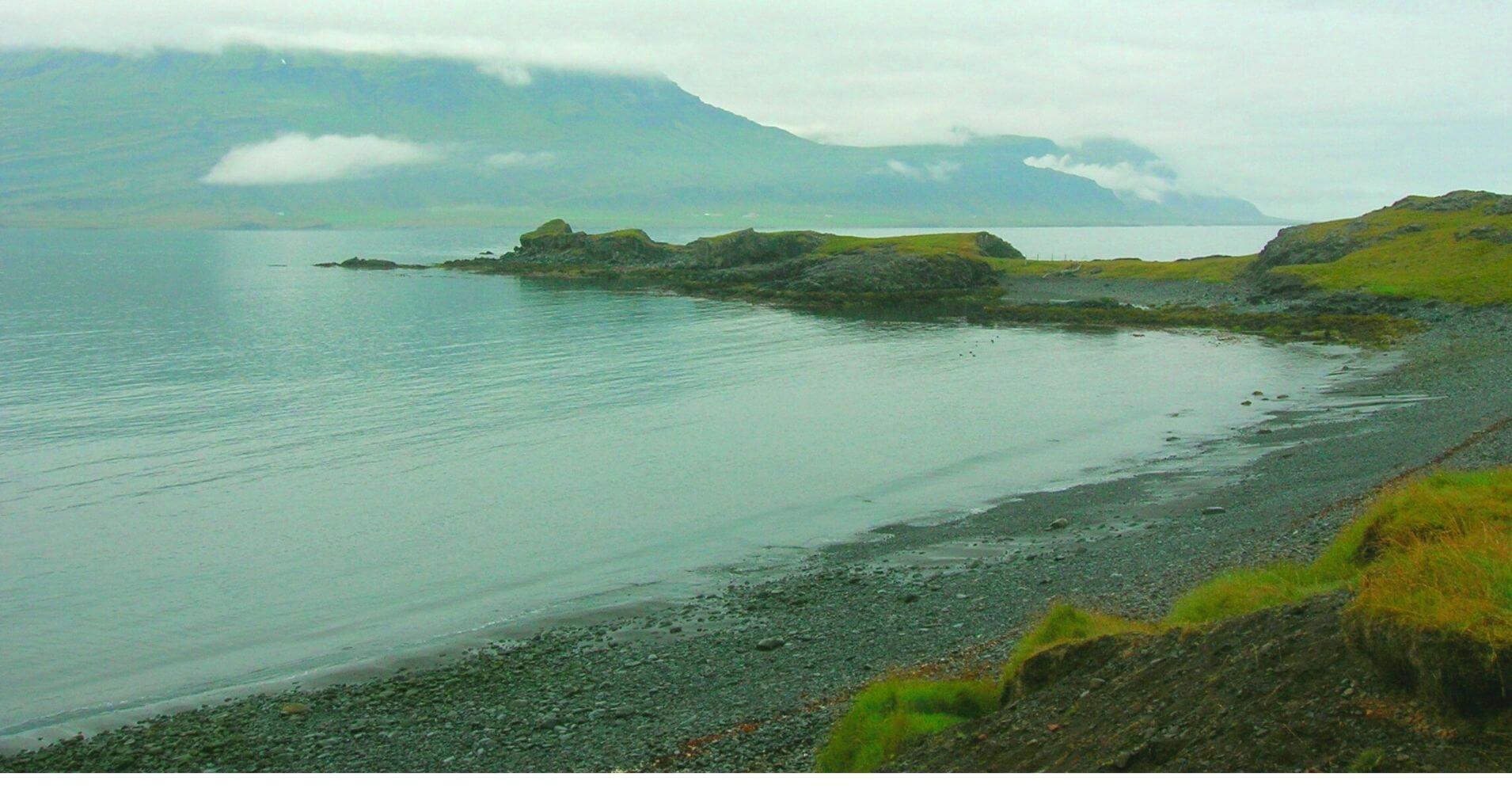 El Lago Lögurinn. Islandia.