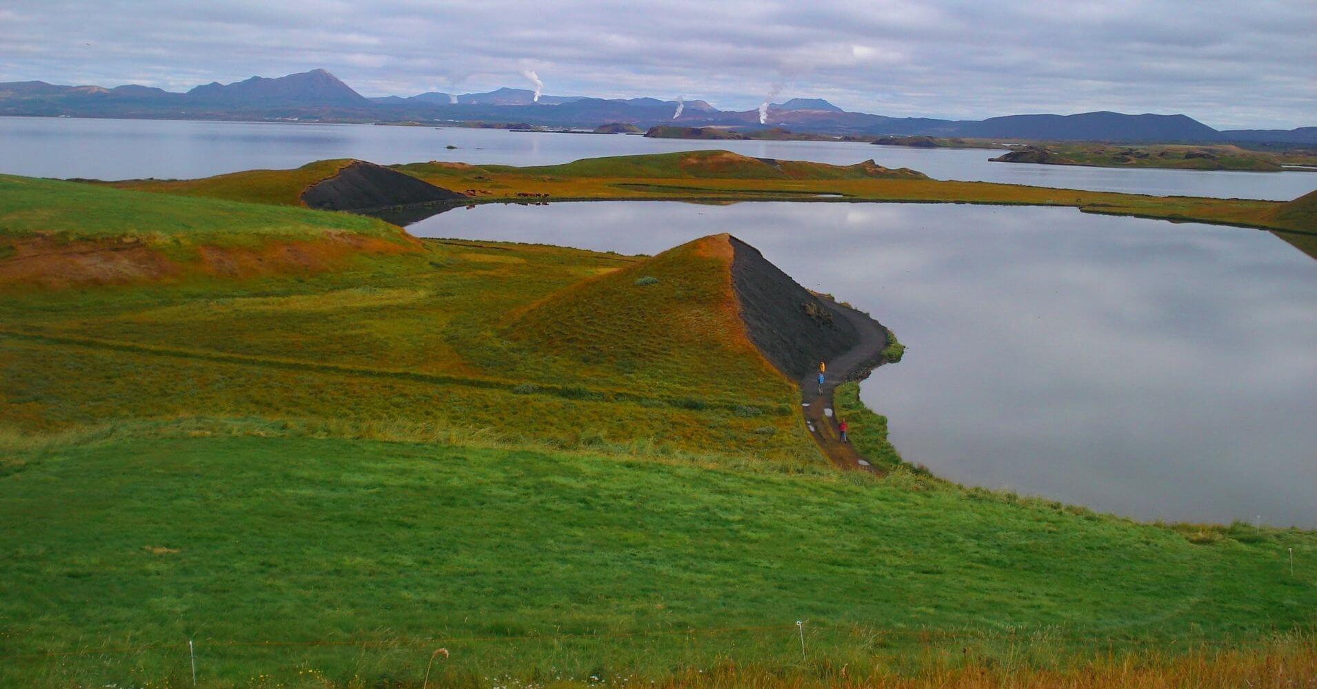 El Lago Mývatn. Norte de Islandia.