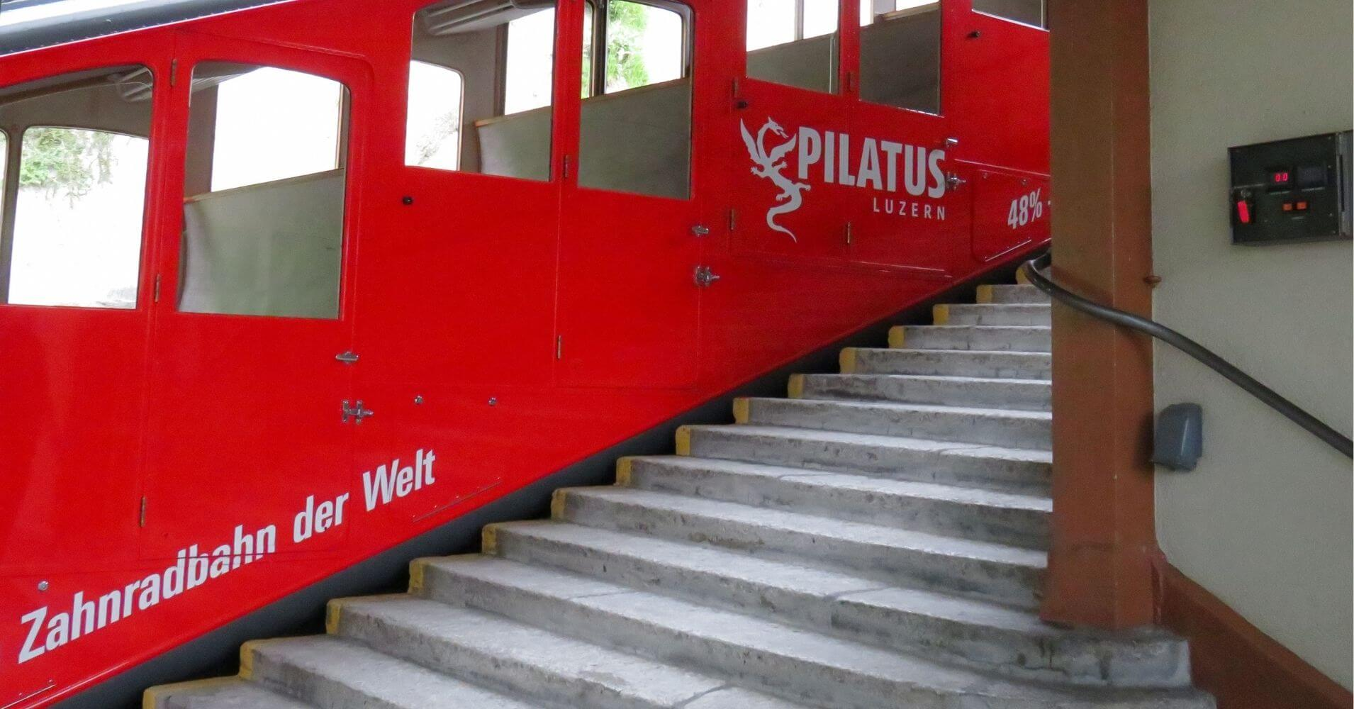 El Tren de Cremallera Monte Pilatus. Suiza.