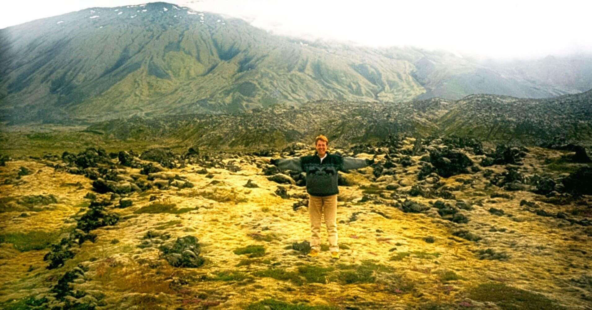 El Volcán Snaefells Snæfellsjökull. Vesturland. Islandia.