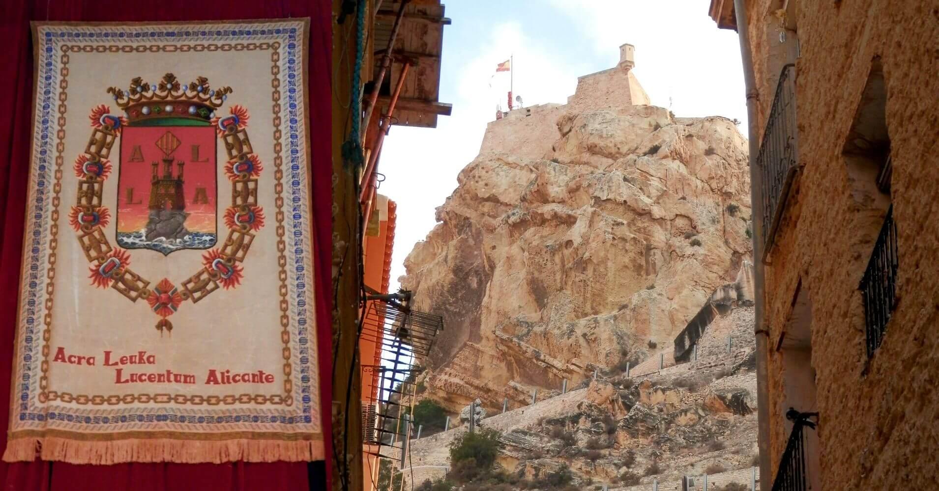 En Alicante, Castillo de santa Bárbara. Comunidad Valenciana.