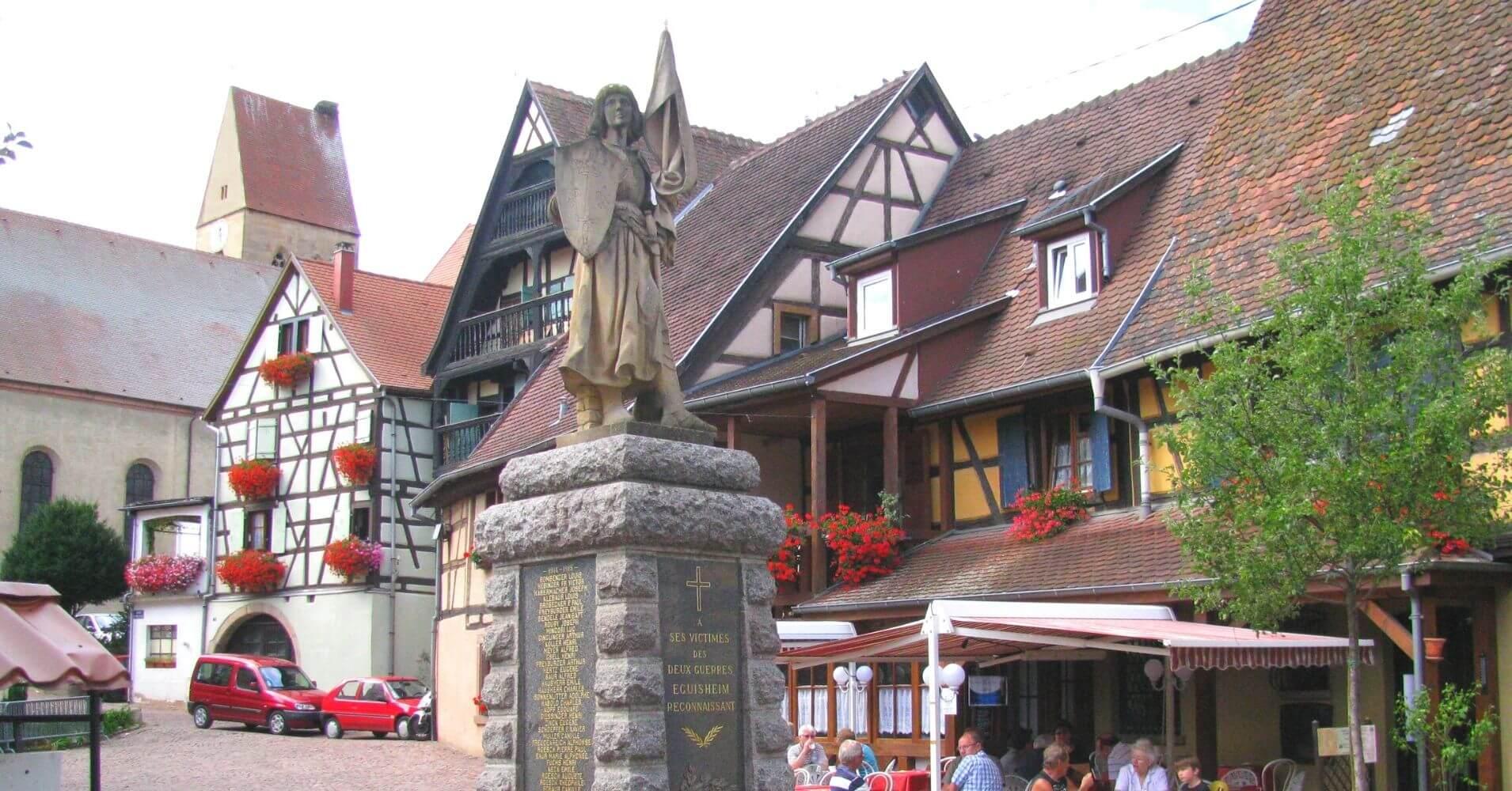 En Eguisheim. Alsacia, Alto Rin. Gran Este. Francia.