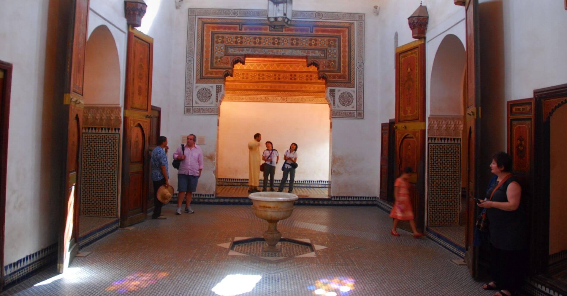 En el Palacio de la Bahía. Marrakech, Marruecos.
