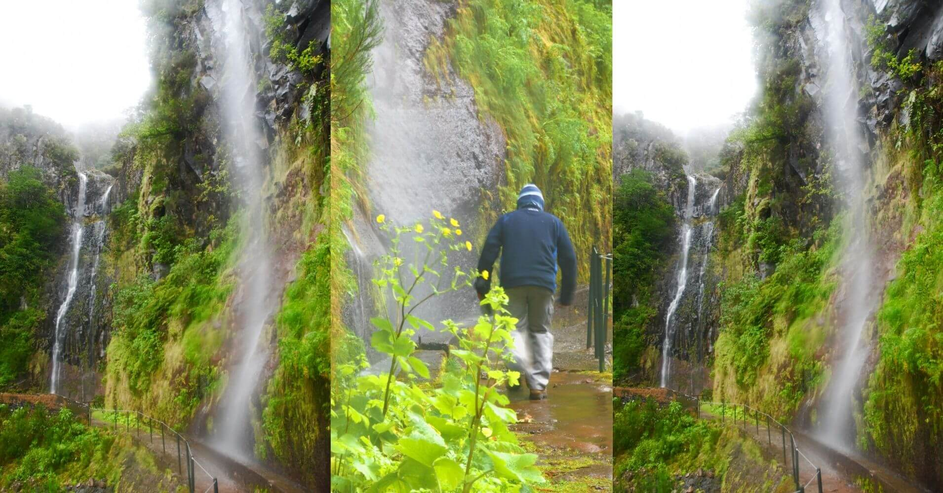 En la Isla de Madeira. Cascada do Risco. Portugal.