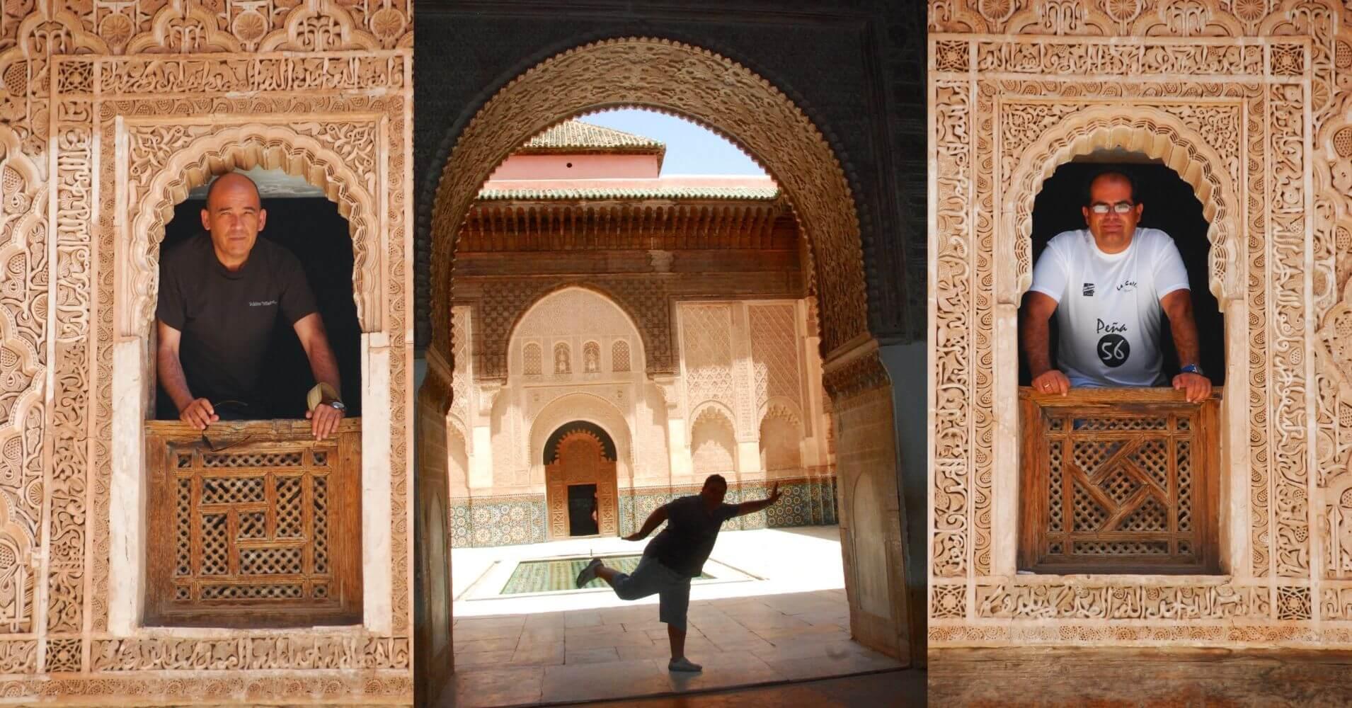En la Madrasa de Ben Youssef. Marrakech. Marruecos.