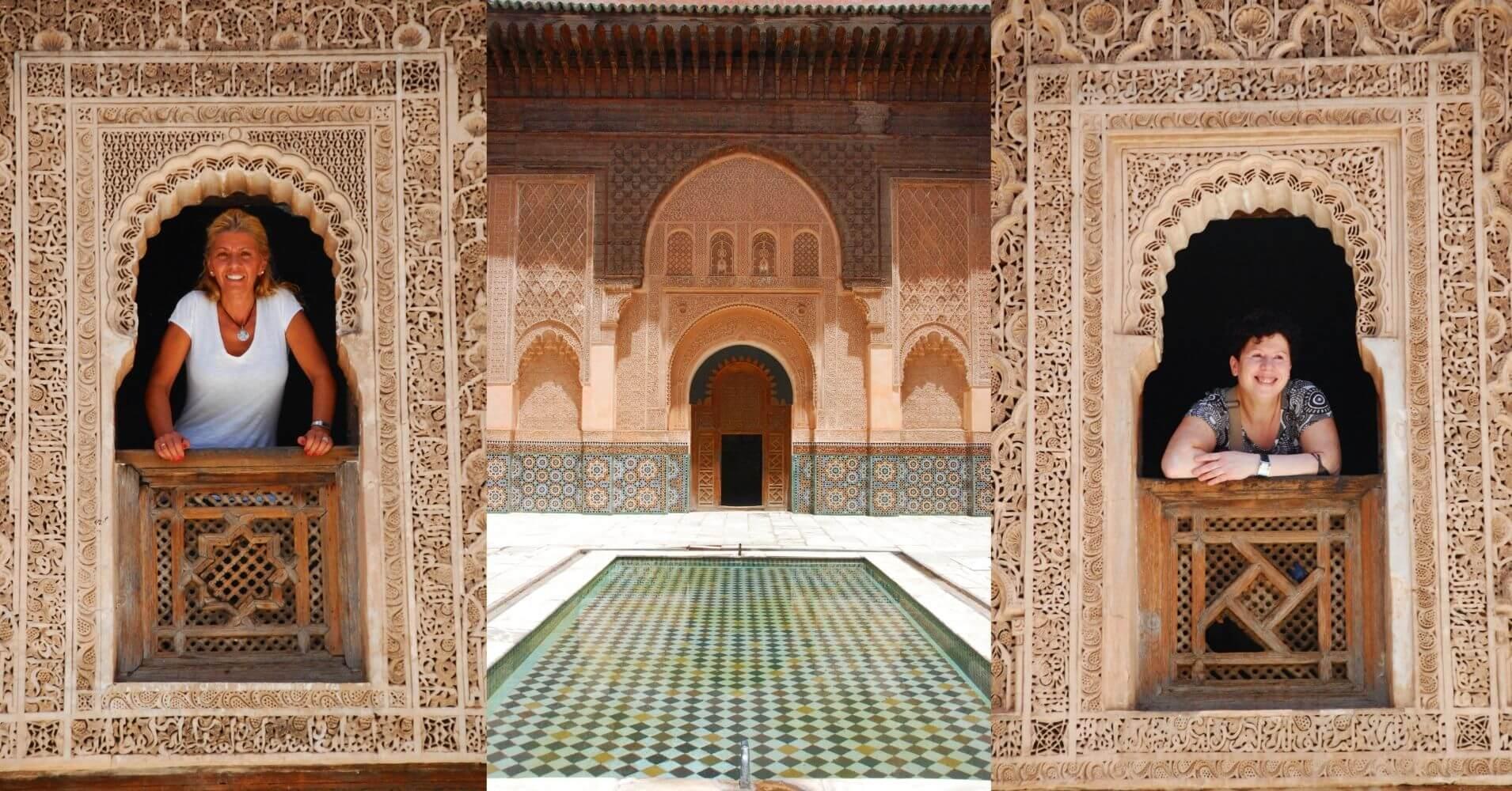 En la Madraza de Ben Youssef, Marrakech. Marruecos.