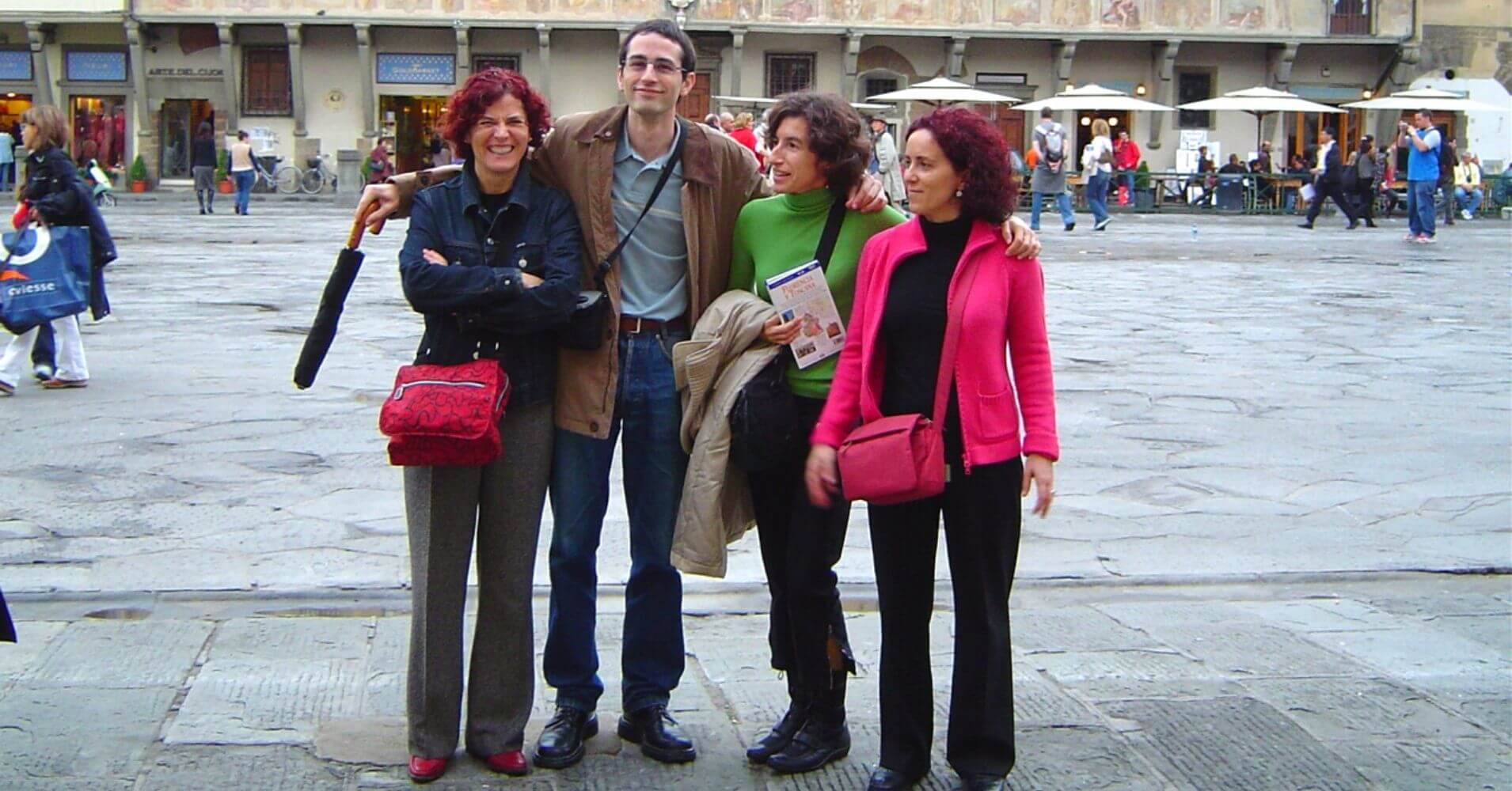 En la Plaza San Croce. Toscana, Italia.