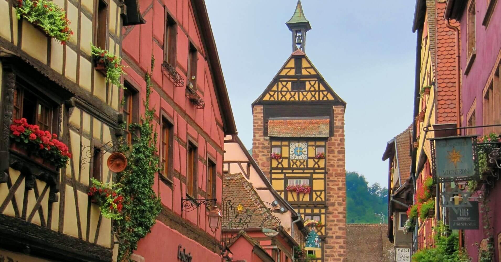 En Riquewihr. Alsacia, Alto Rin. Gran Este. Francia.