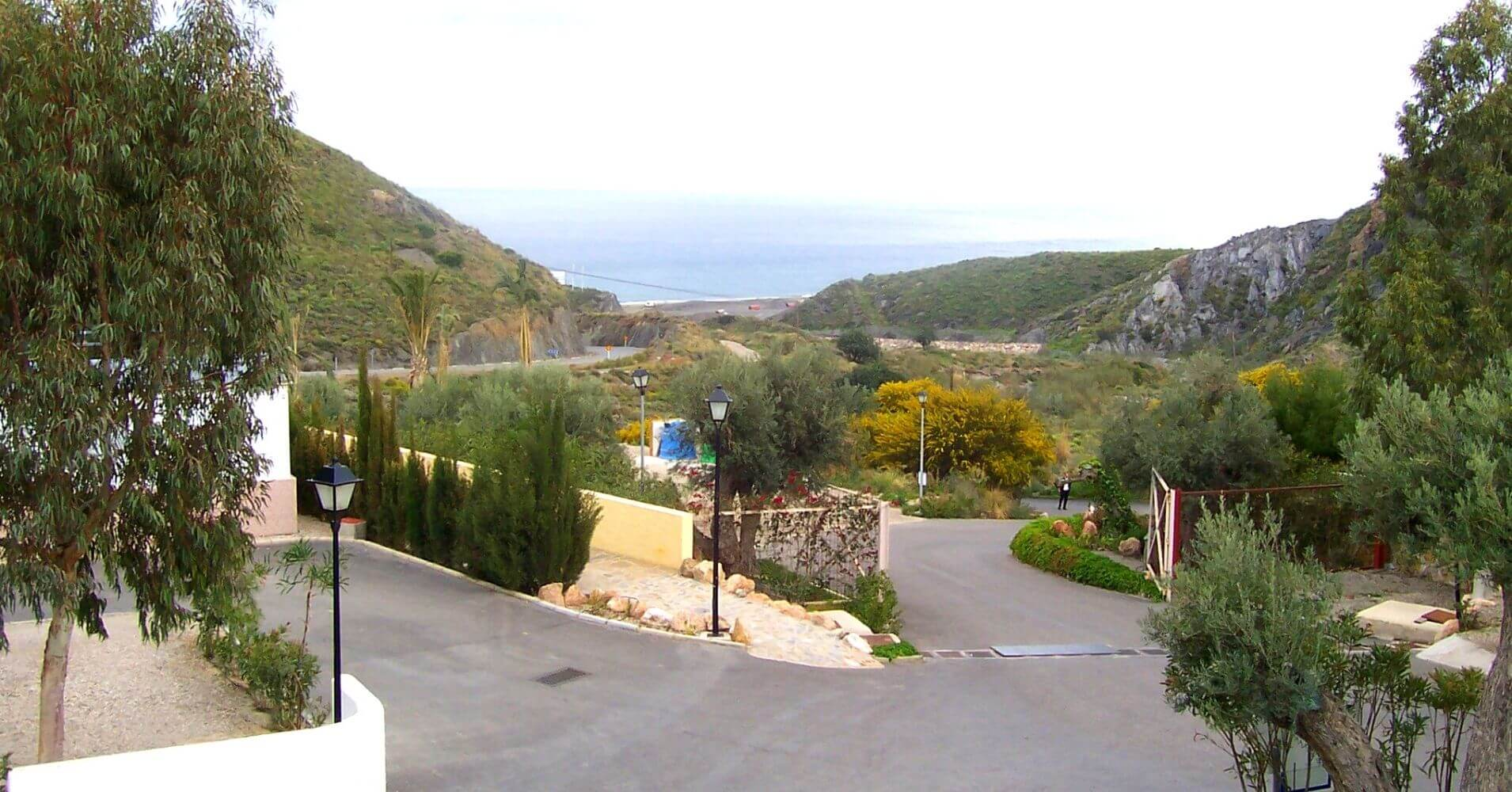 Entrada Camping Cueva Negra. Mojácar. Almería, Andalucía.
