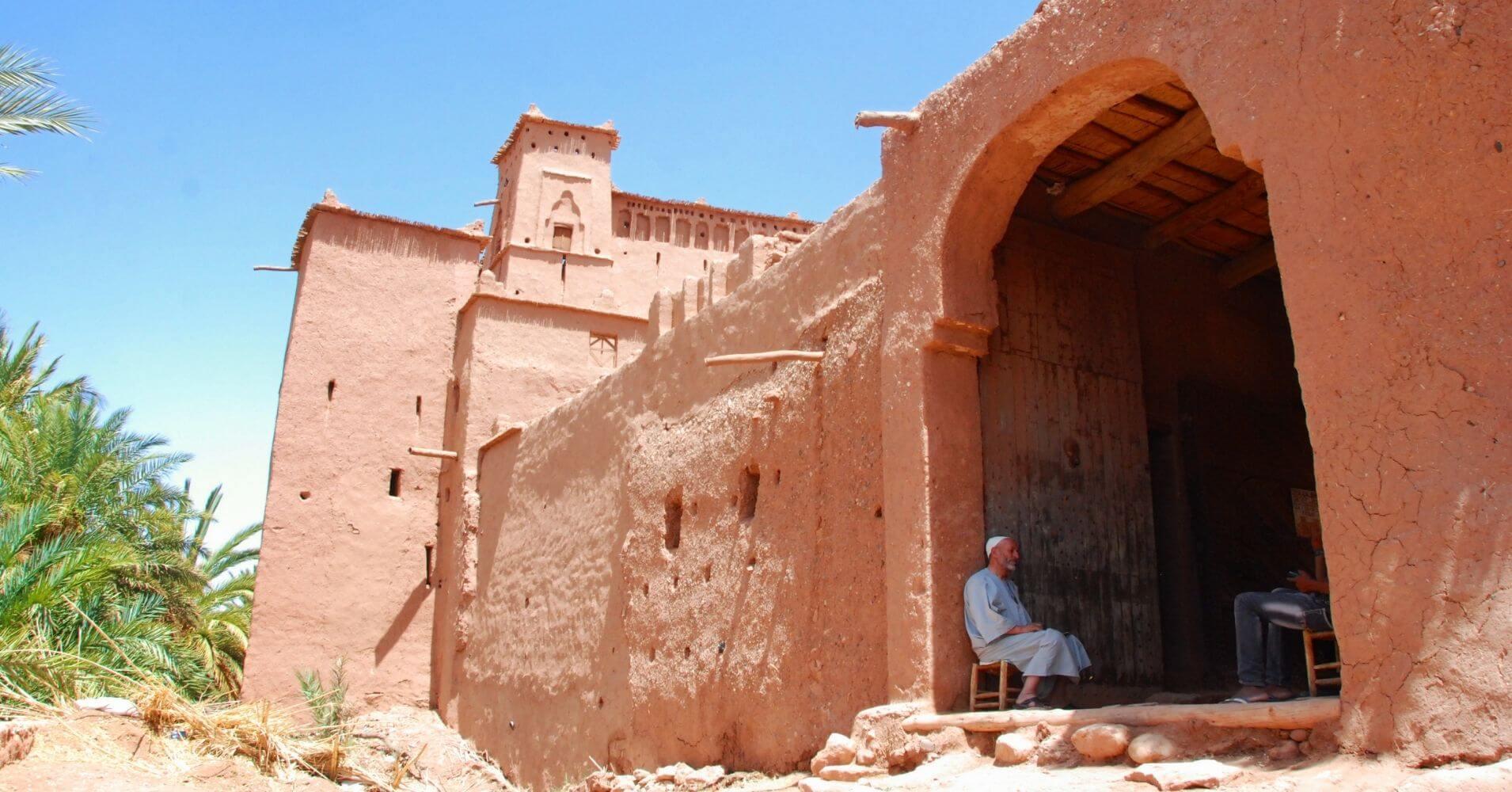Entrada Kasbah de Aït Ben Haddou, Marruecos.