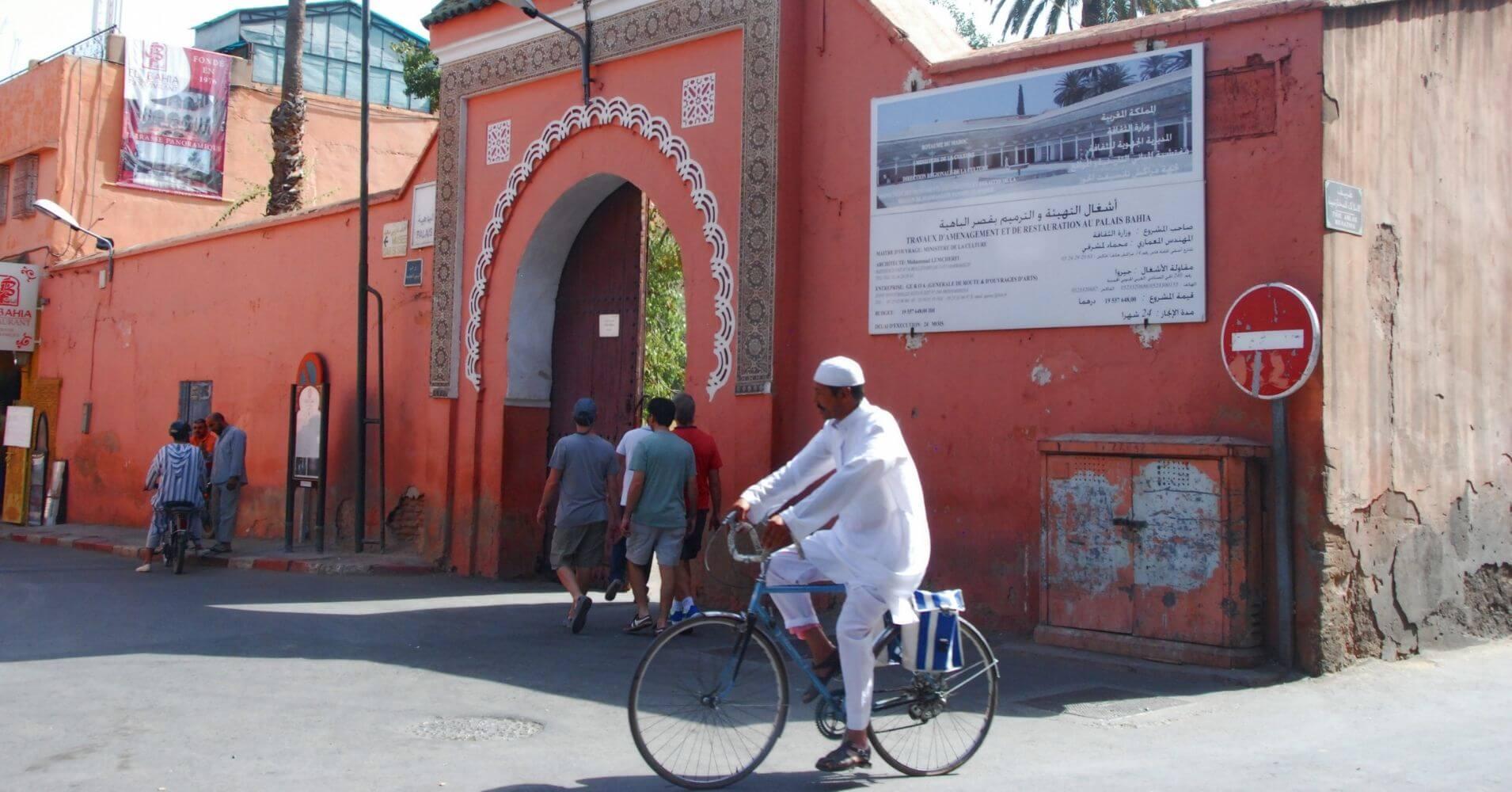 Entrada Palacio de la Bahía, Marrakech. Marruecos.