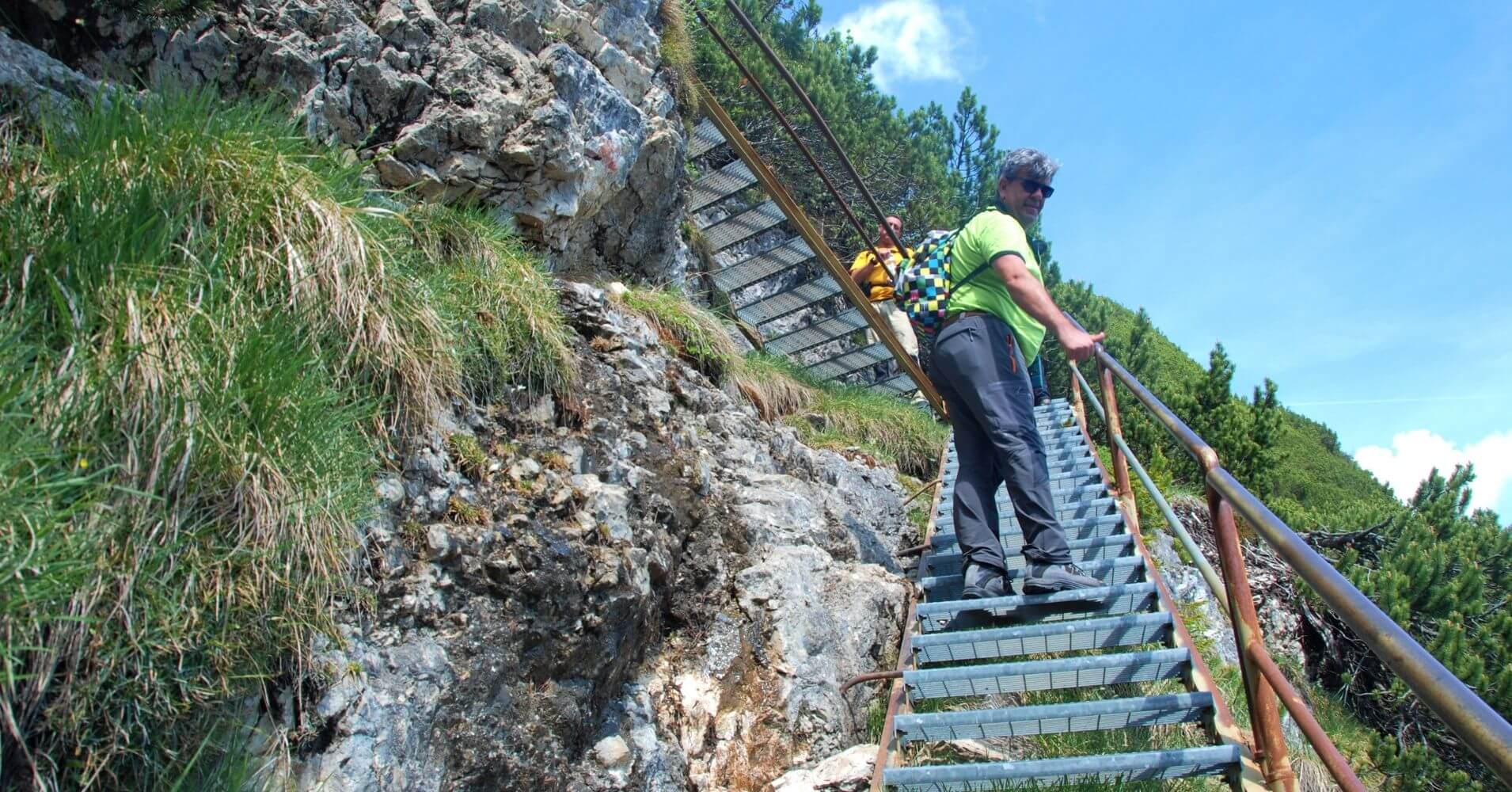 Escaleras del Camino Equipado. Cortina d' Ampezzo. Belluno, Véneto. Italia.