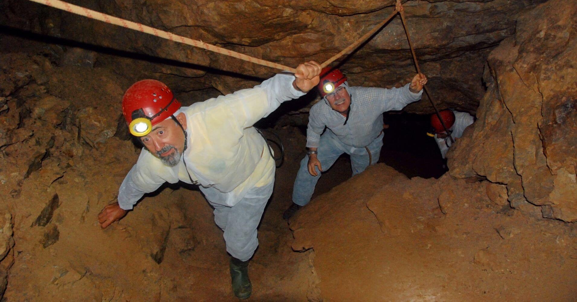 Espeleo Turismo en Cueva de El Soplao. Valdáliga. Cantabria. España.