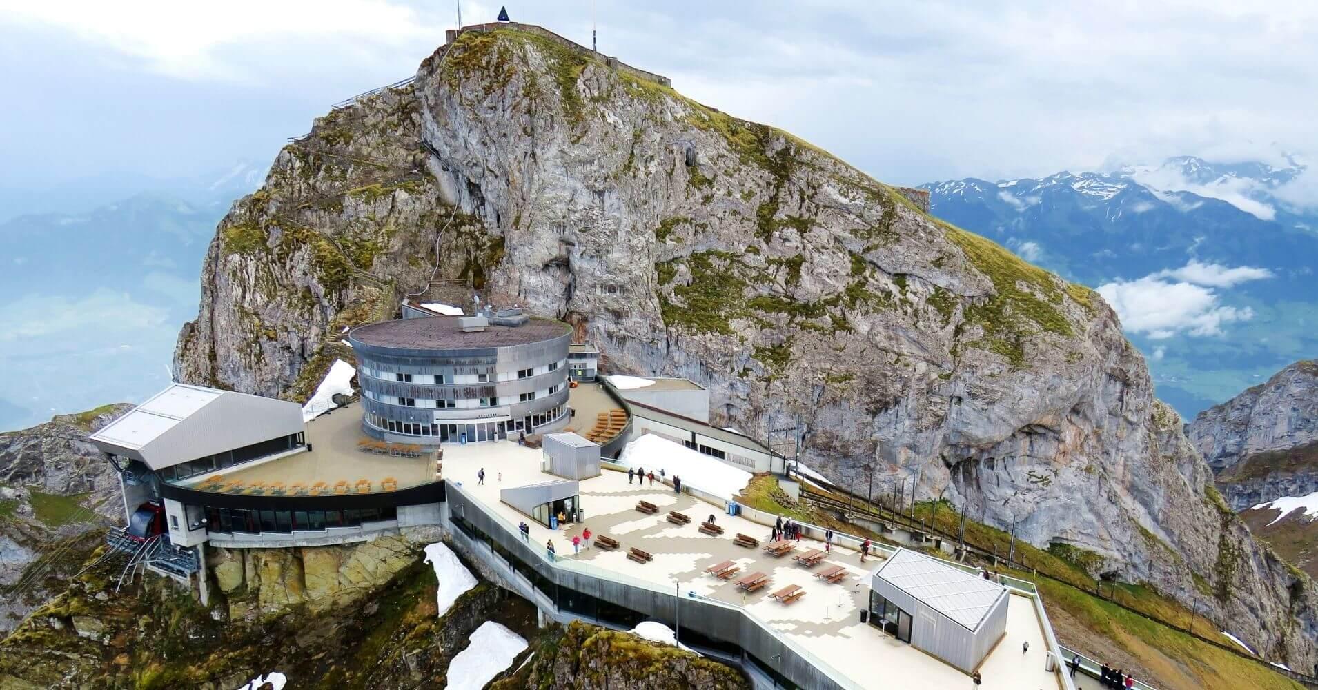 Estación Alta del Monte Pilatus. Suiza.