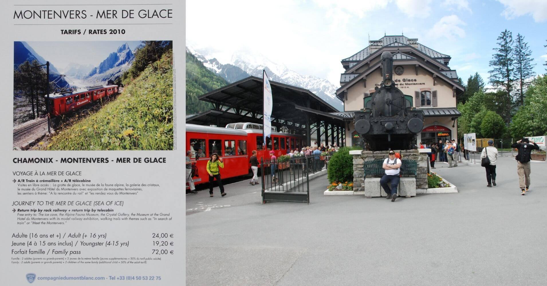 Estación del Ferrocarril de Montenvers. Chamonix, Alta Saboya. Auvernia-Ródano-Alpes. Francia.