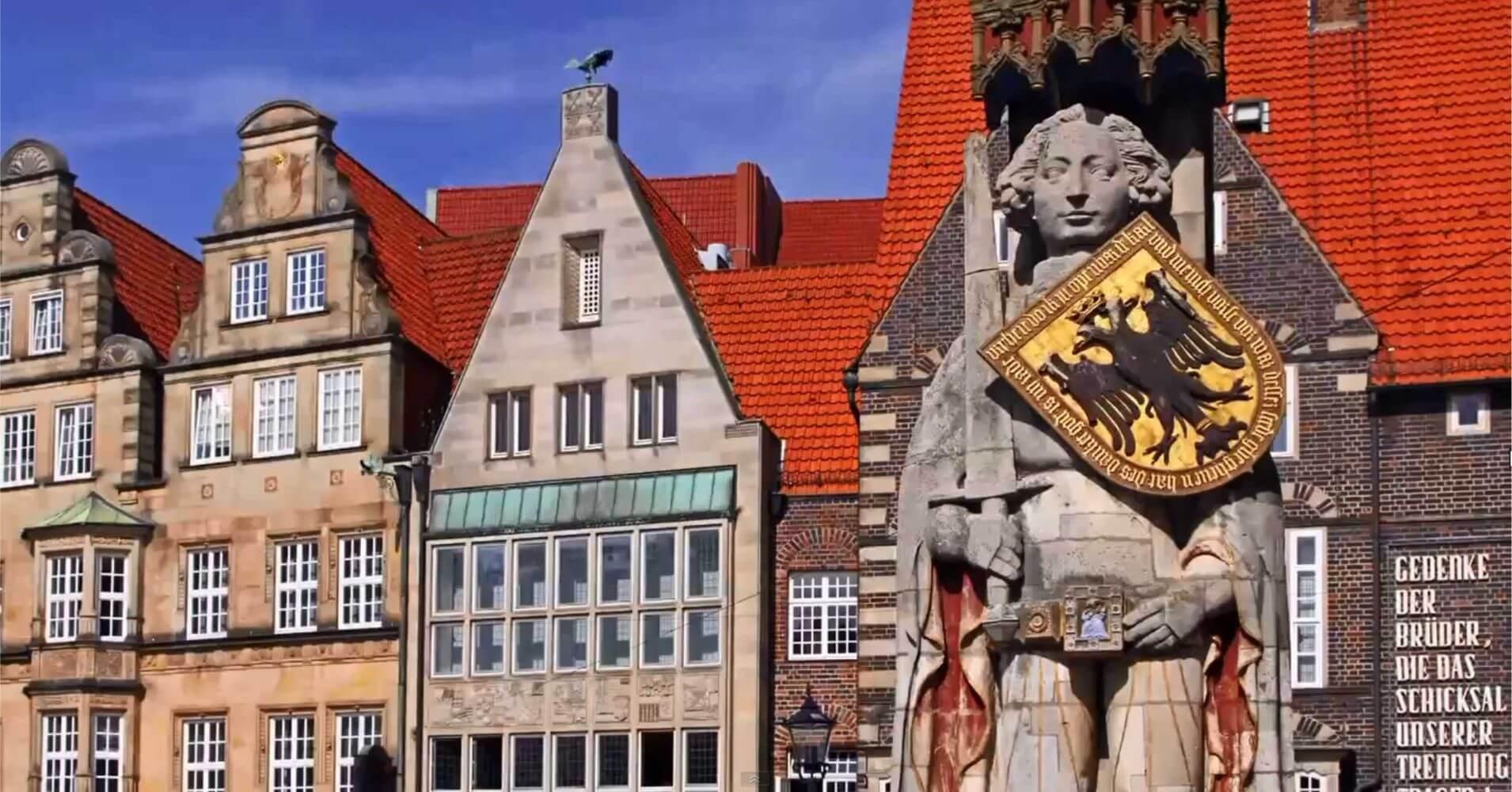 Estatua de Rolando. Plaza del Mercado de Bremen.