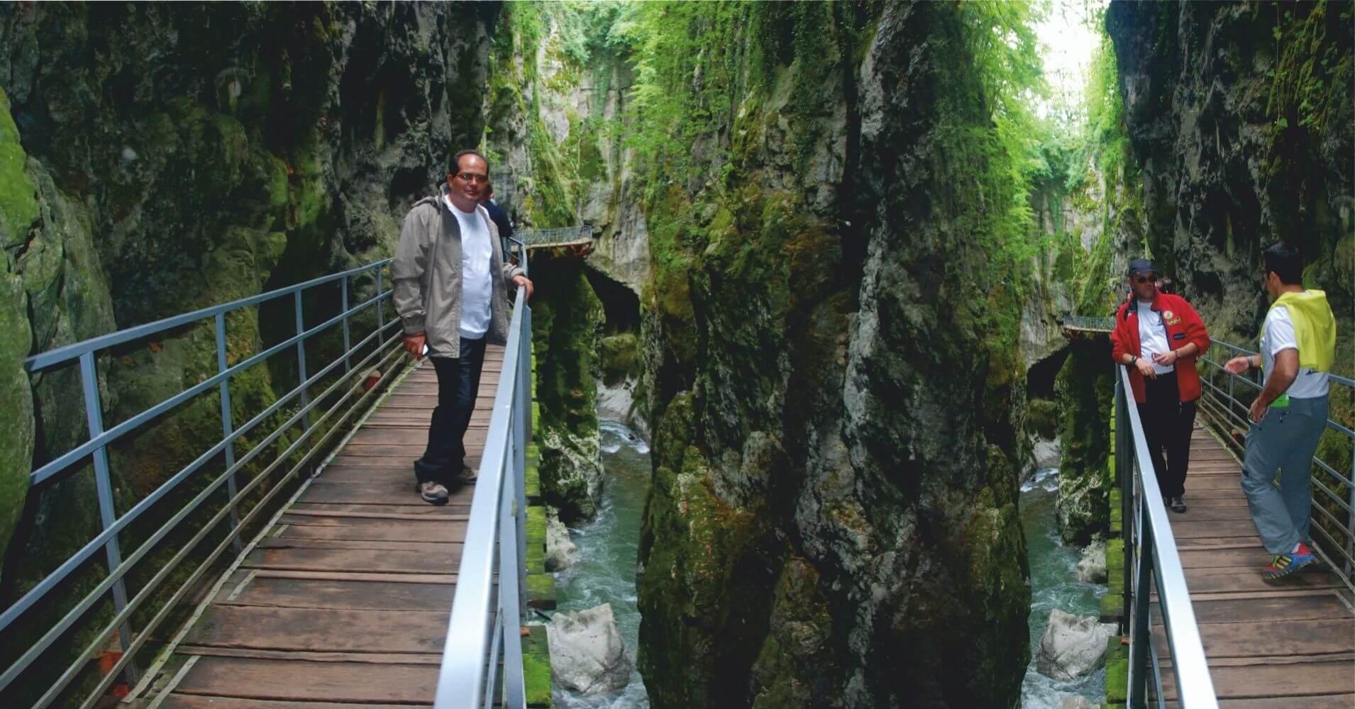 Estrechos de Gorges du Fier. Lovagni, Alta Saboya. Auvernia-Ródano-Alpes. Francia.