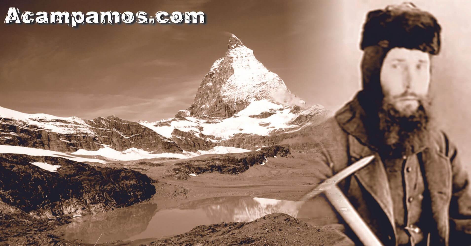 Escalador del Club Alpino Británico.  Pico Matterhorn. Zermatt, Suiza.