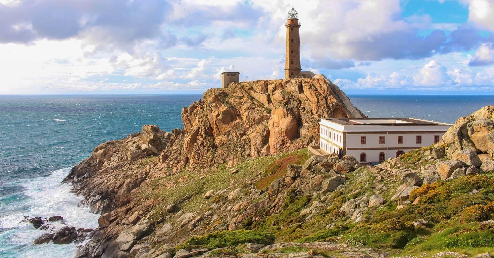 Faro del cabo Vilán. A Coruña, Galicia. España.