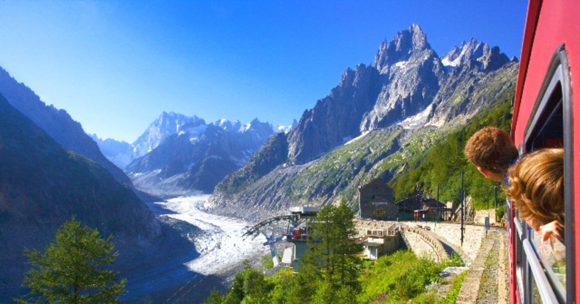 Ferrocarril de Montenvers. Chamonix, Alta Saboya. Auvernia-Ródano-Alpes. Francia.