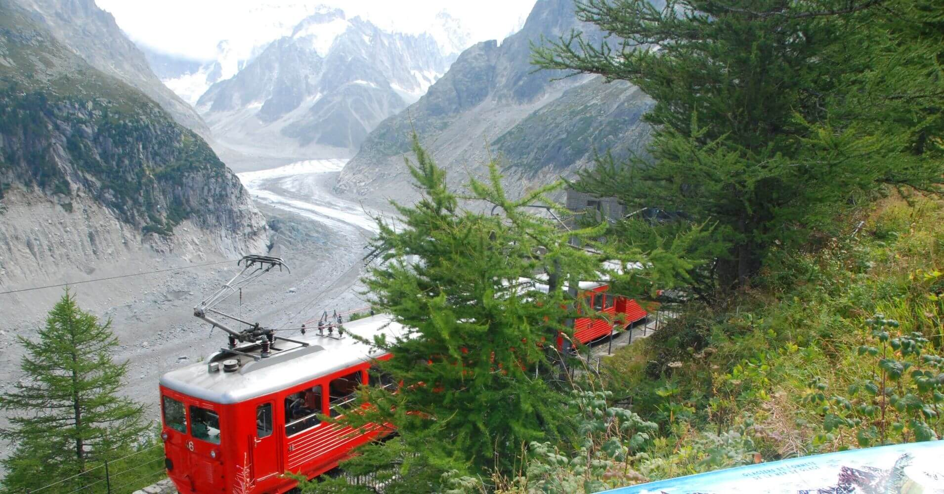 Ferrocarril de Montenvers. Mer de Glace. Chamonix, Alta Saboya. Auvernia-Ródano-Alpes. Francia.