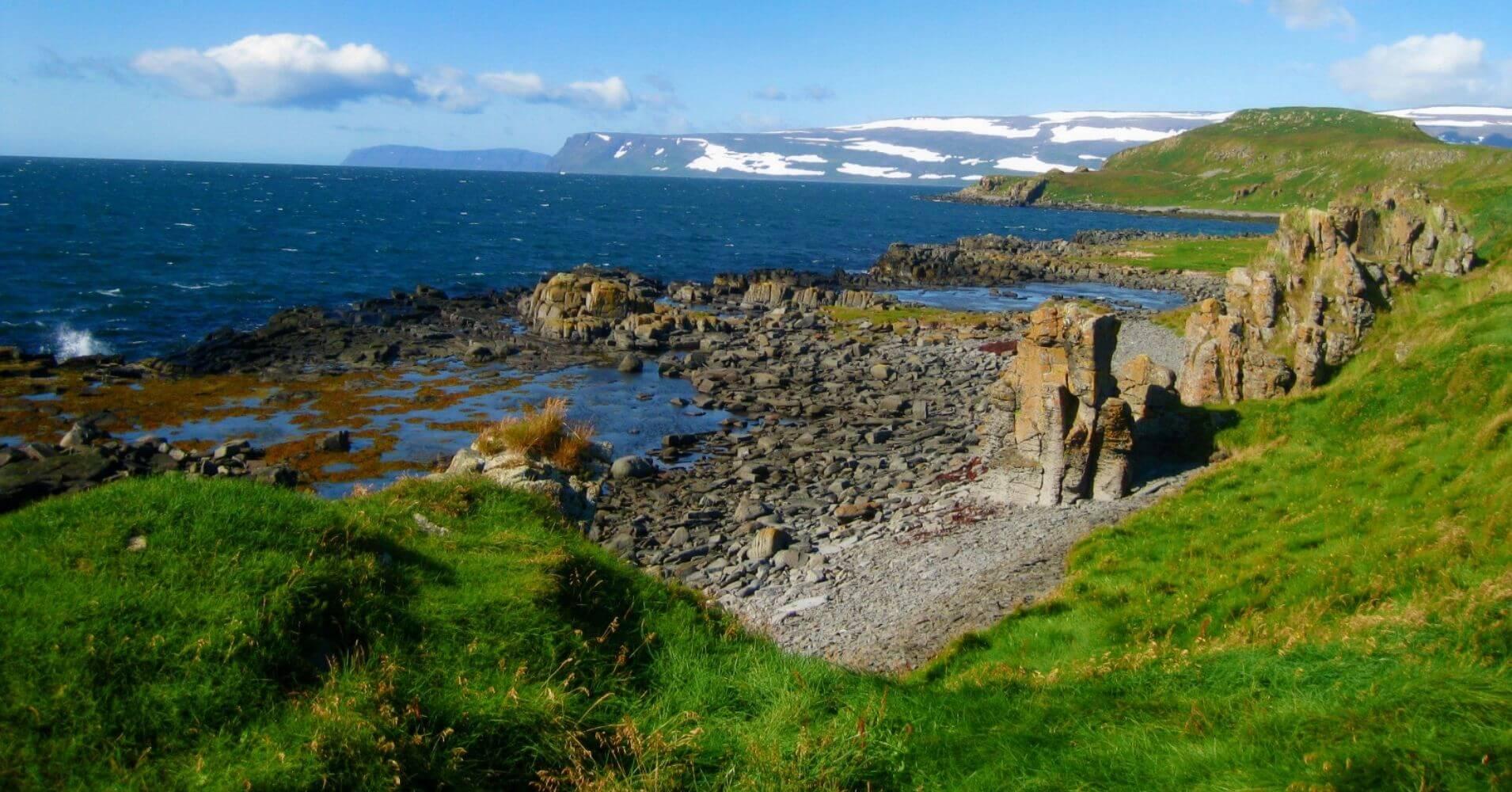 Formaciones Volcánicas. Ísafjörður. Vestfirðir. Islandia.