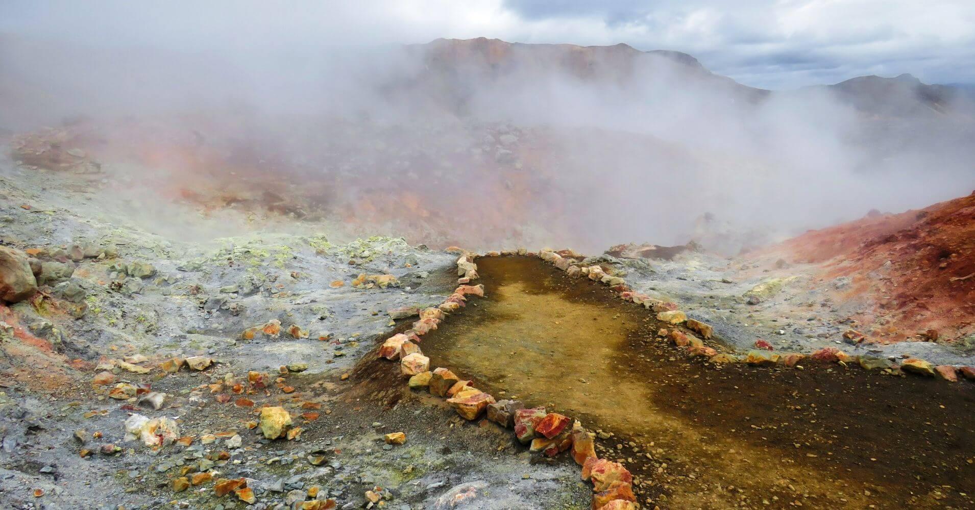 Fumarolas de Landmannalaugar Tierras Altas de Islandia.