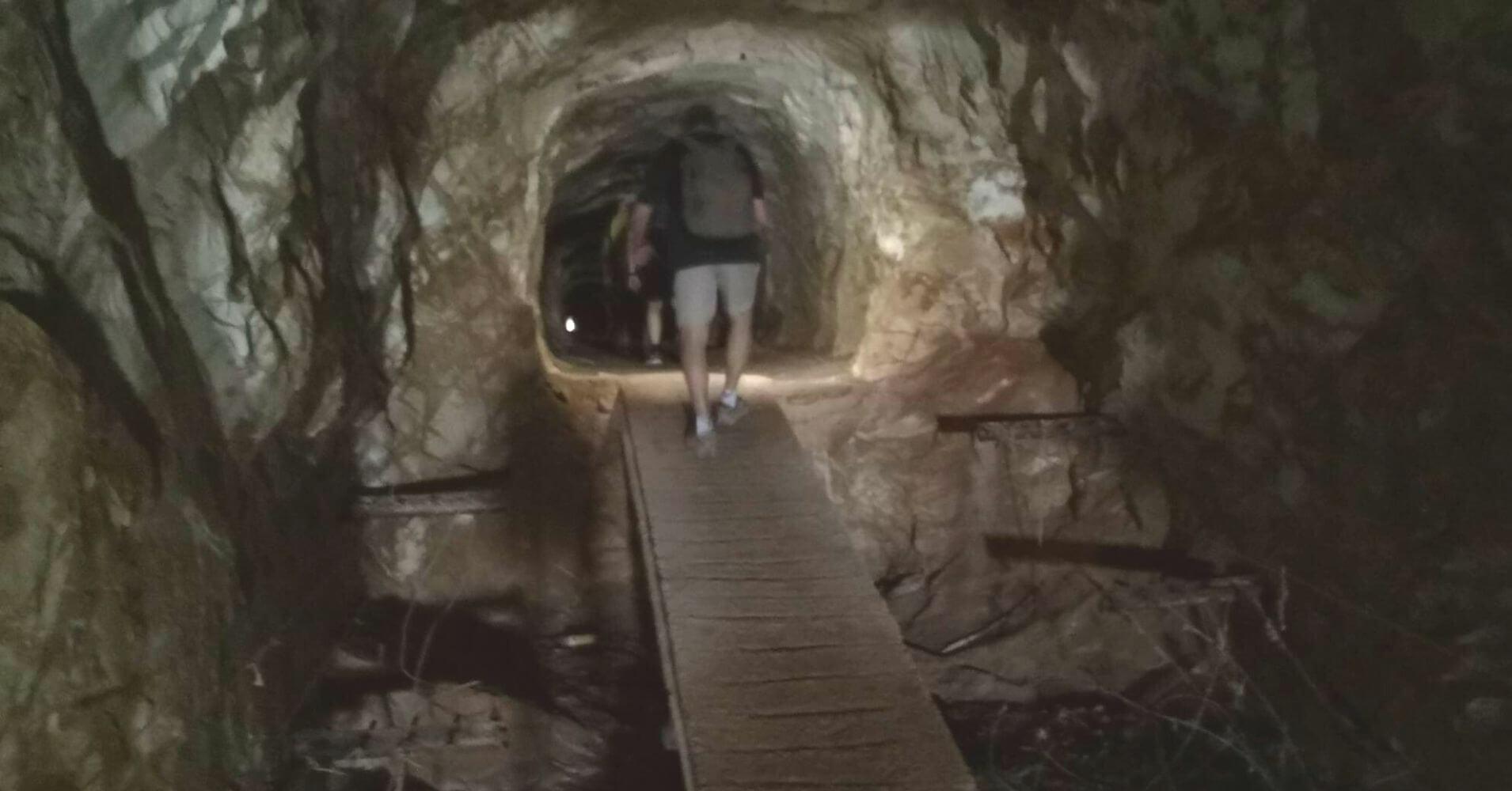 Galería Túnel de la Cueva de los Champiñones. Paisaje Protegido Cabezo Gordo. Torre Pacheco. Murcia.