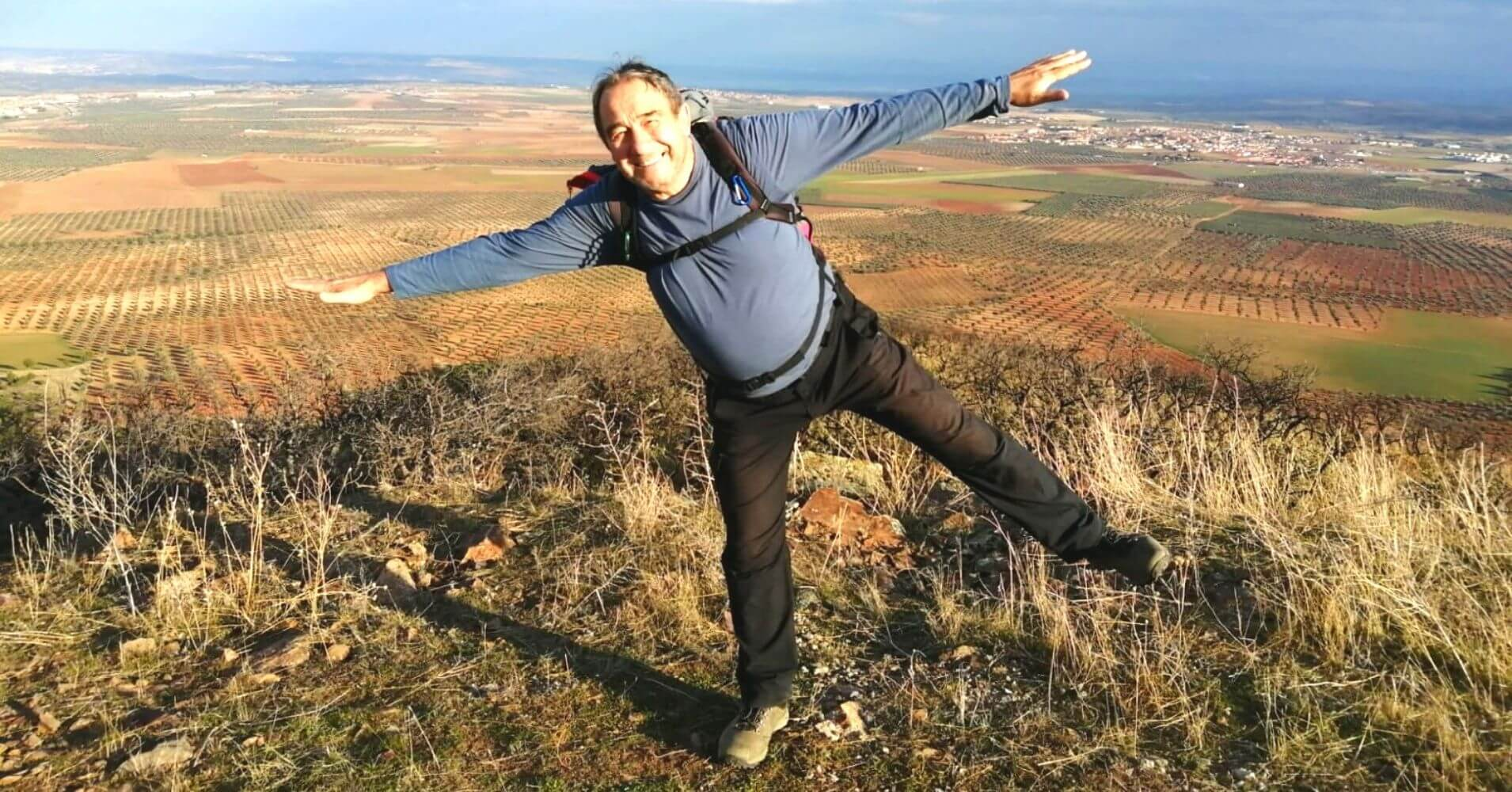 'Gavioto' en la Cumbre del Cerro Marica. Nambroca, Toledo. Castilla La Mancha.