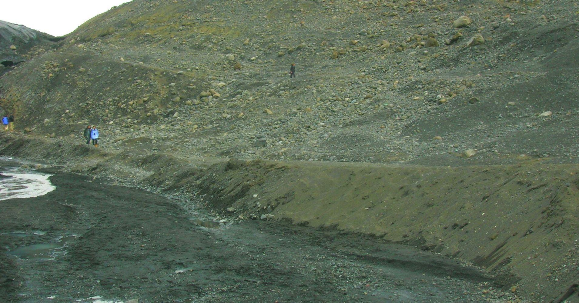 Glaciar Solheimajökull. Road Trip. Iceland.