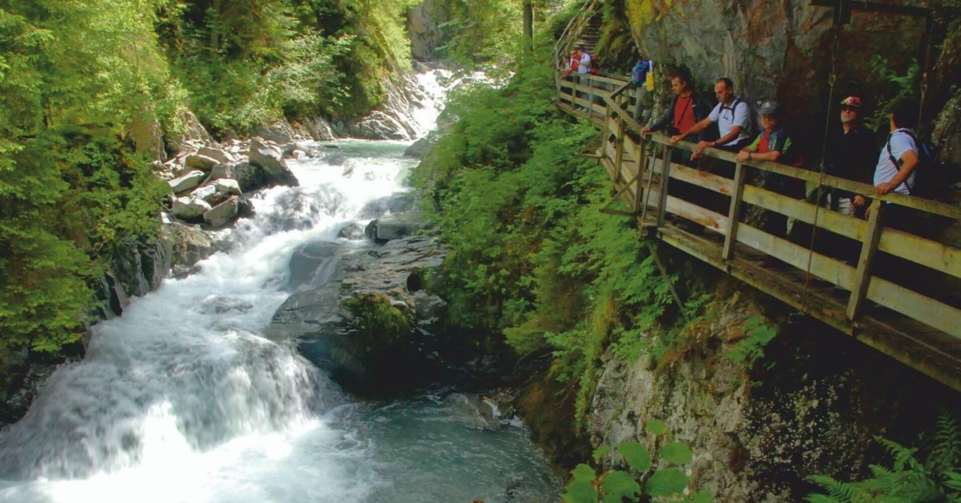 Gorges de la Diosaz, Alta Saboya en Auvernia-Ródano-Alpes, Francia.