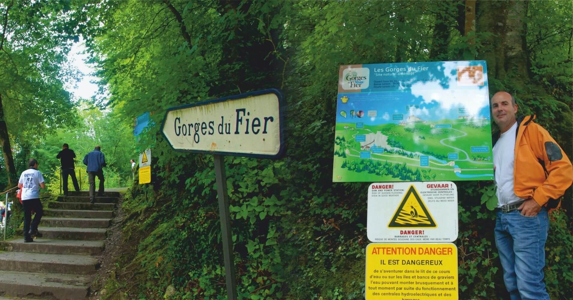 Gorges du Fier. Lovagni, Auvernia-Ródano-Alpes. Alta Saboya, Francia.
