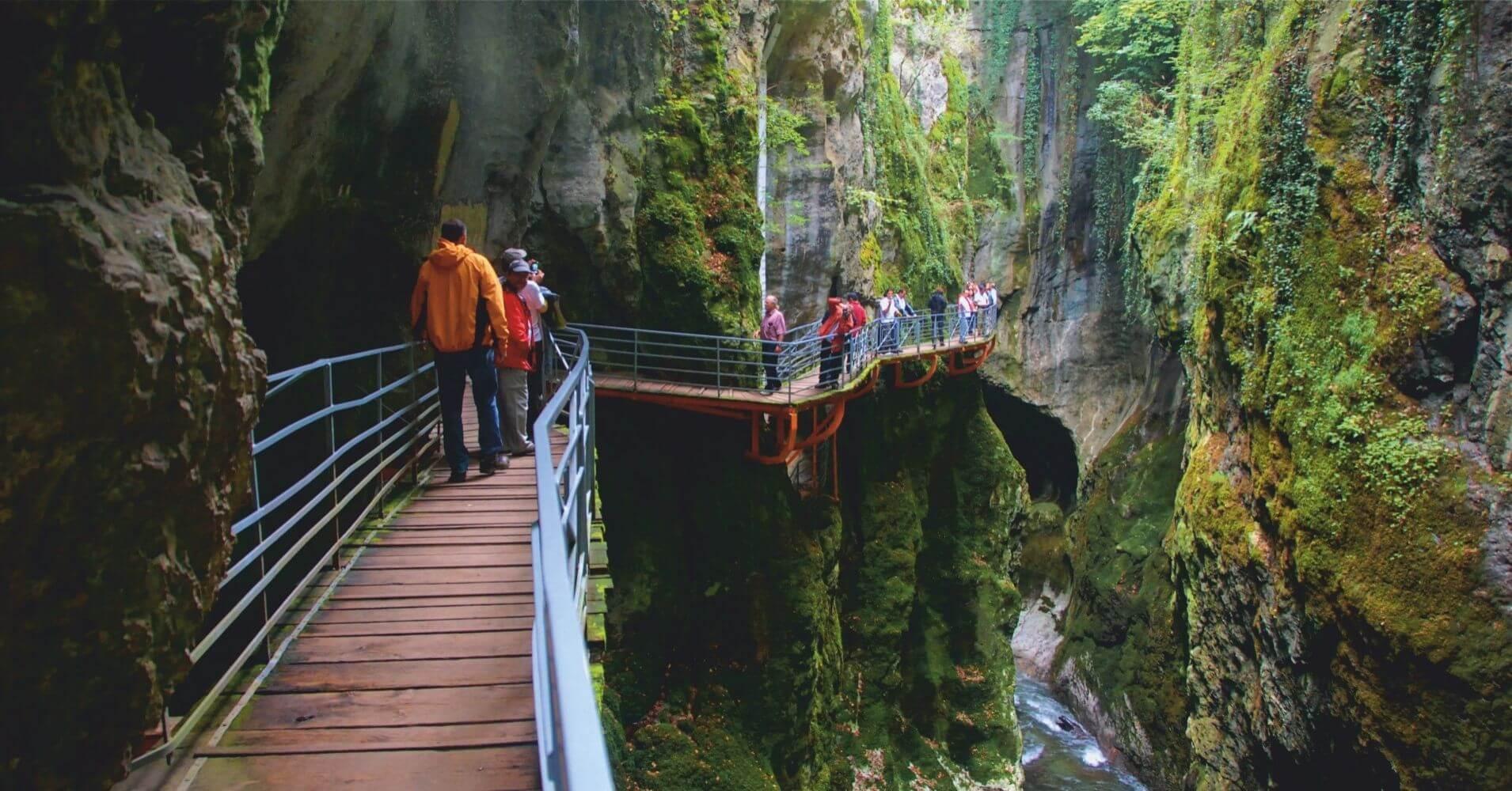Gorges du Fier, Lovagni en Alta Saboya, Auvernia-Ródano-Alpes. Francia.