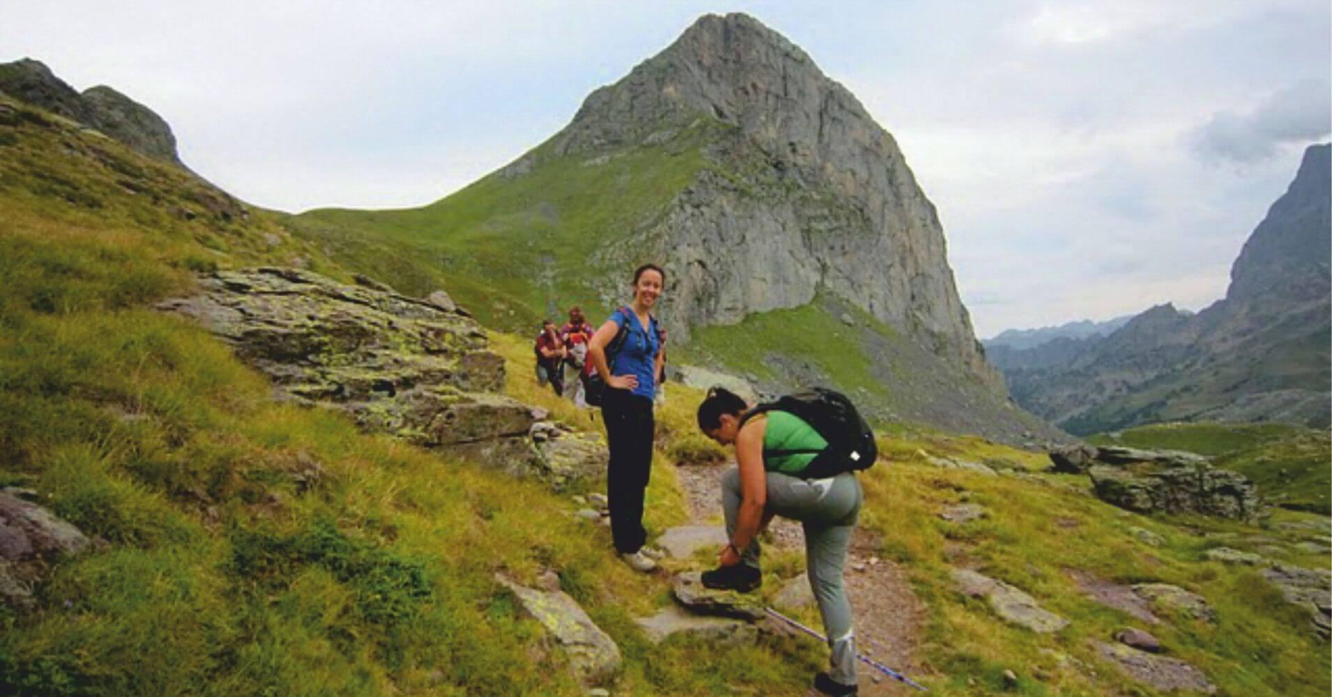 GR10 Parque Nacional de los Pirineos. Etsaut. Nueva Aquitania. Pirineos Atlánticos. Francia.